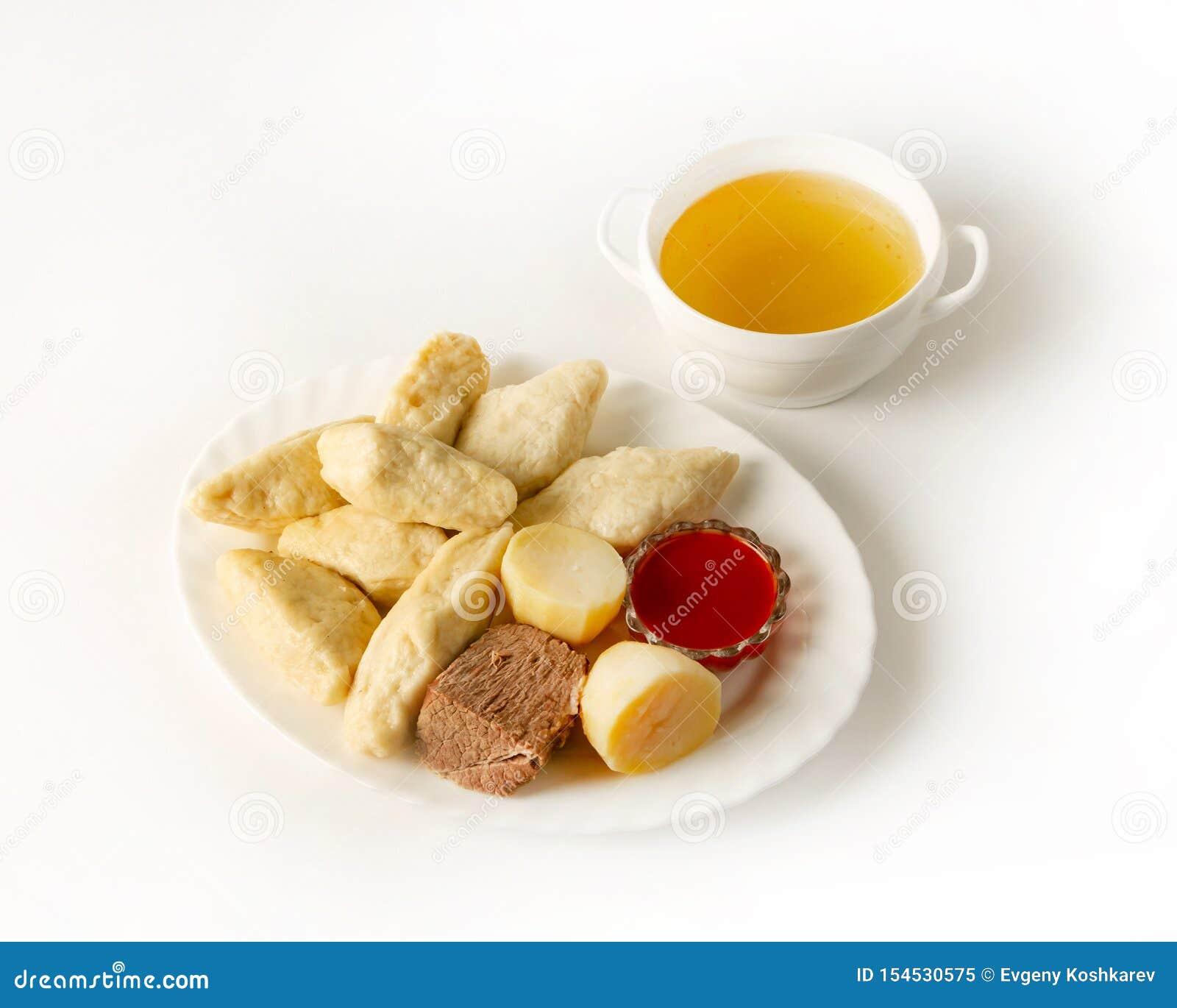 Image De Plat De Cuisine un plat de cuisine de dagestan, avar khinkal avec du boeuf