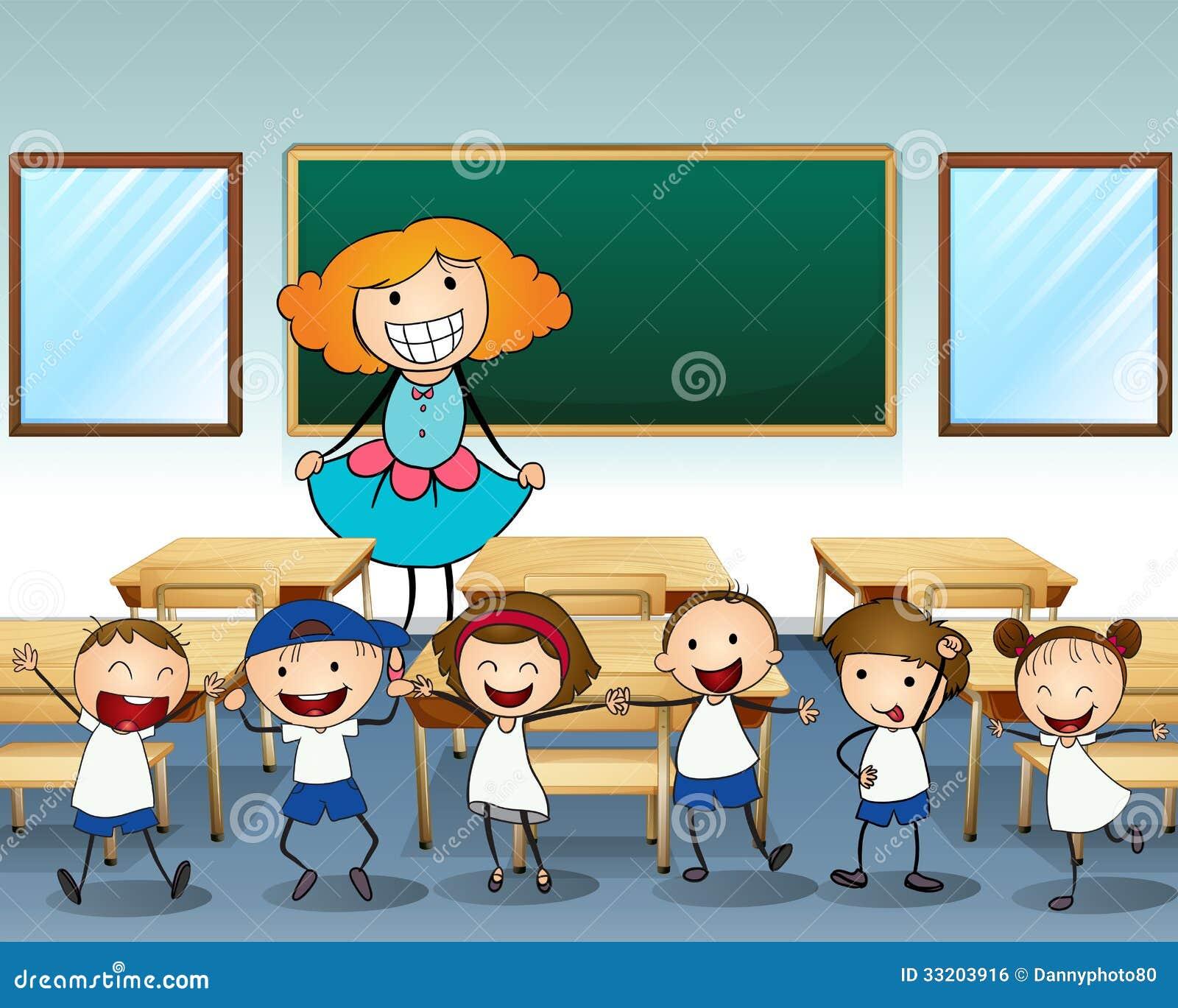 Un professeur et ses étudiants