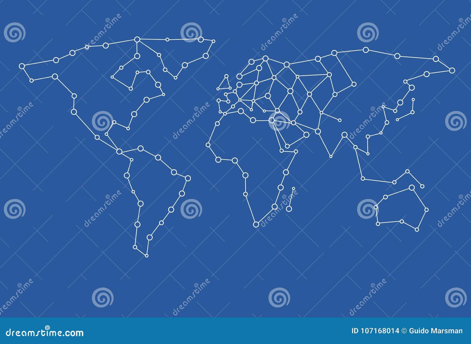 Mapa Del Mundo Vacio.Un Punto En Blanco De La Plantilla Del Mapa Del Mundo Vacio