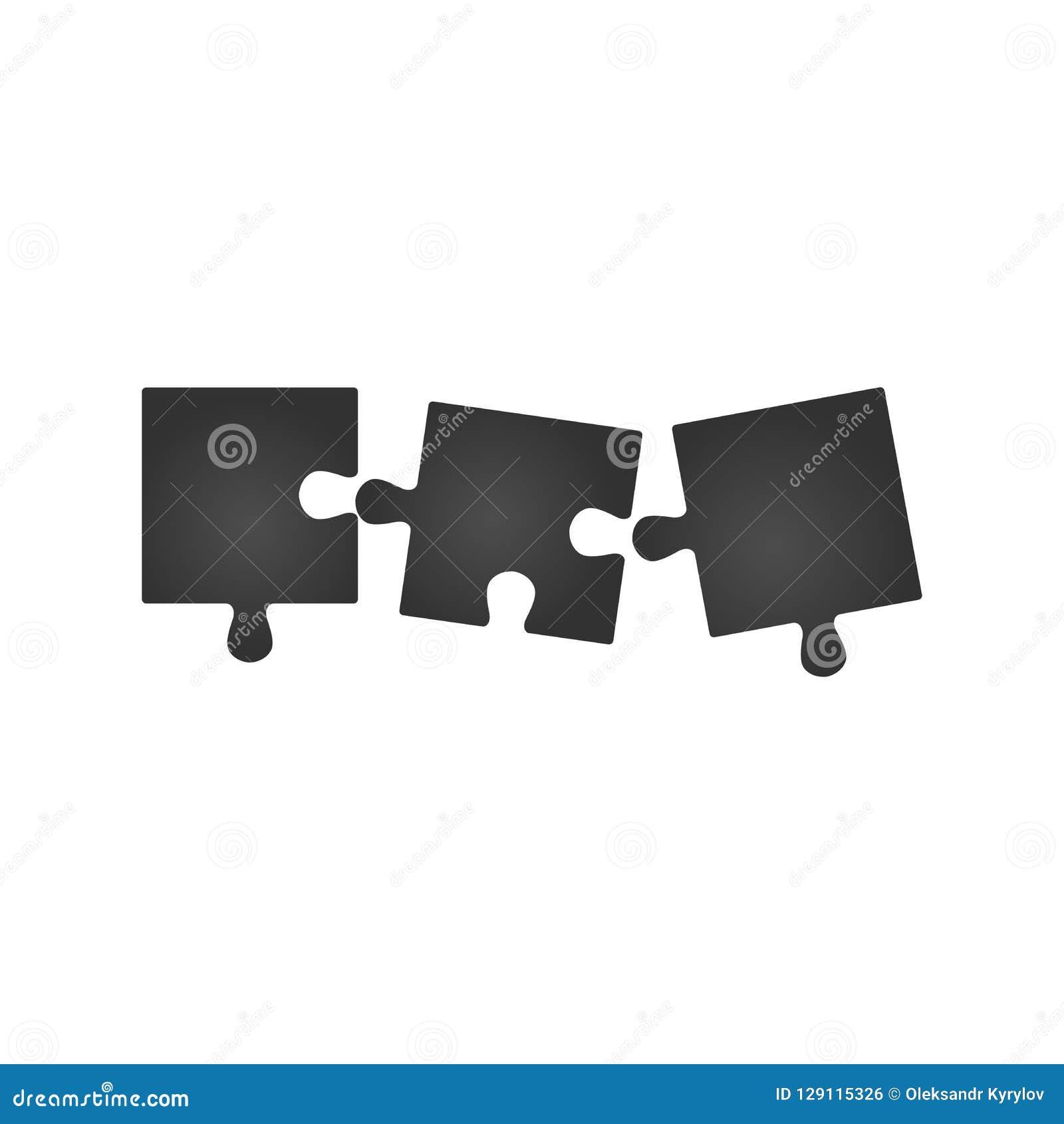 Un puzzle piano di tre pezzi intorno alla presentazione infographic diagramma di affari del cerchio di 3 punti Sezione tre confro