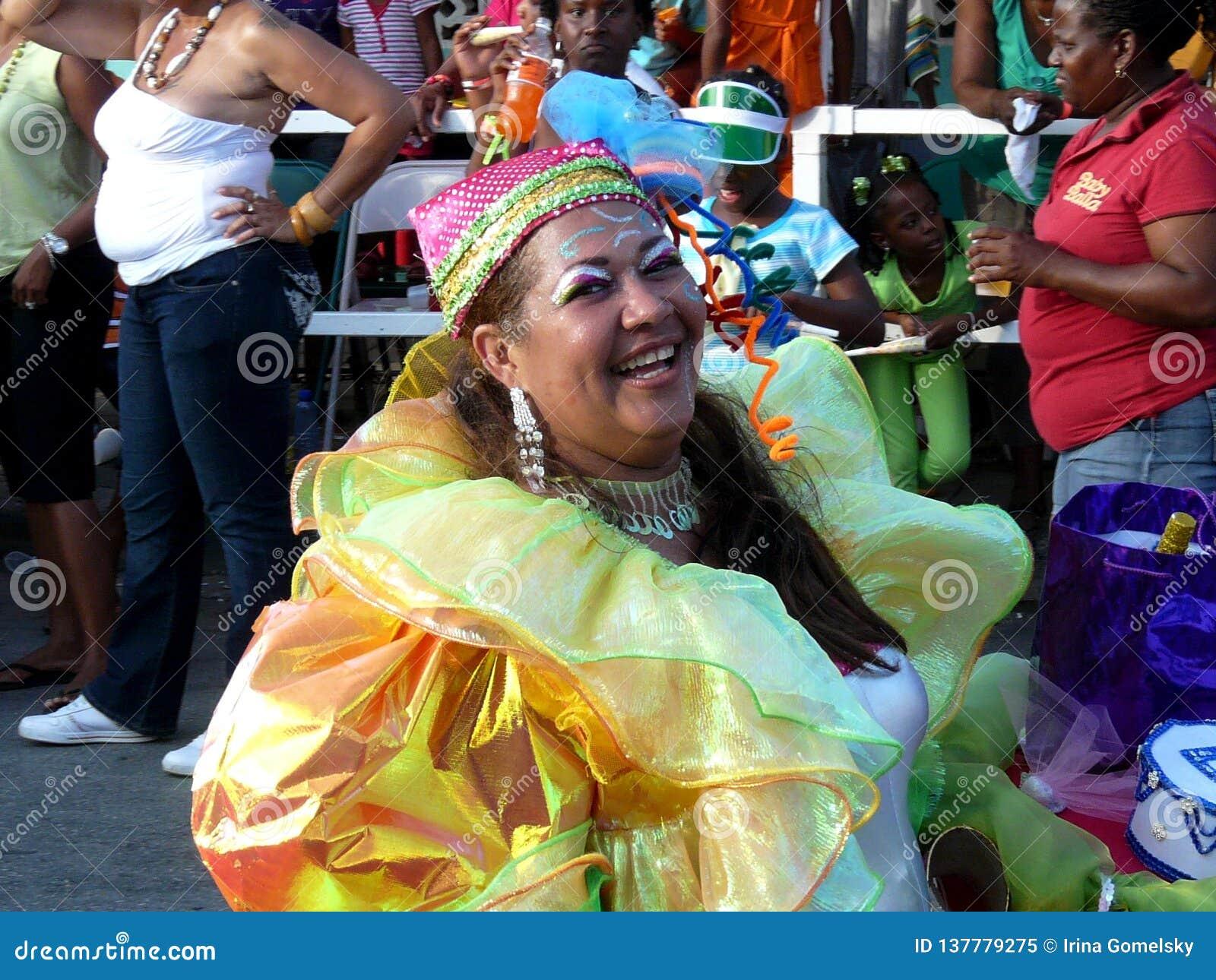 Un résident gai du Curaçao au carnaval 3 février 2008
