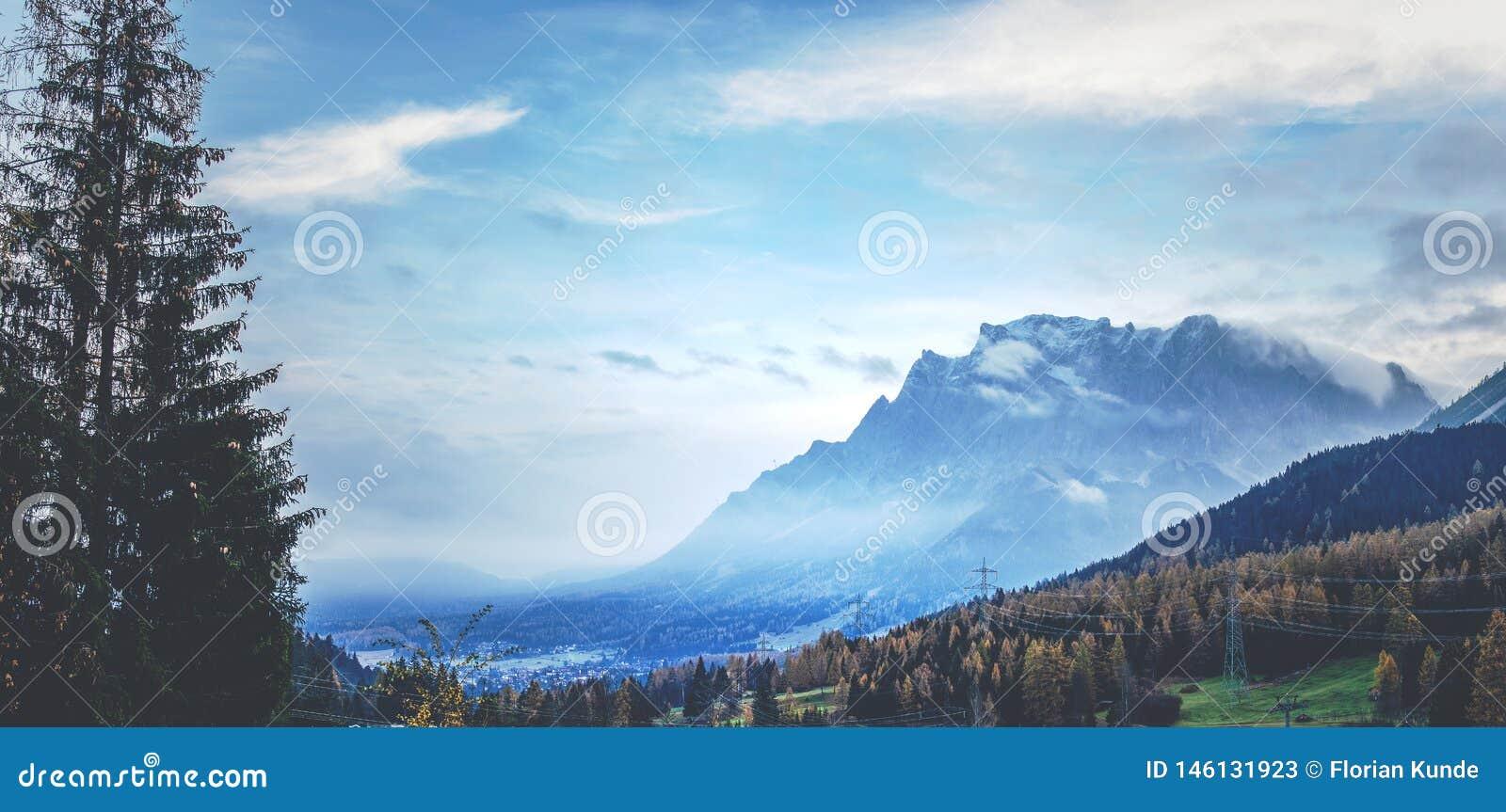 Un regard flou chez le Zugspitze