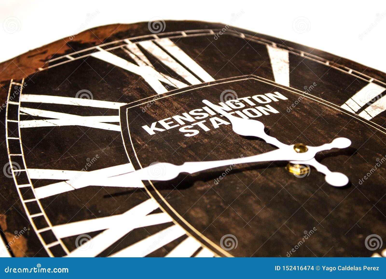 Un reloj del vintage con el oxid