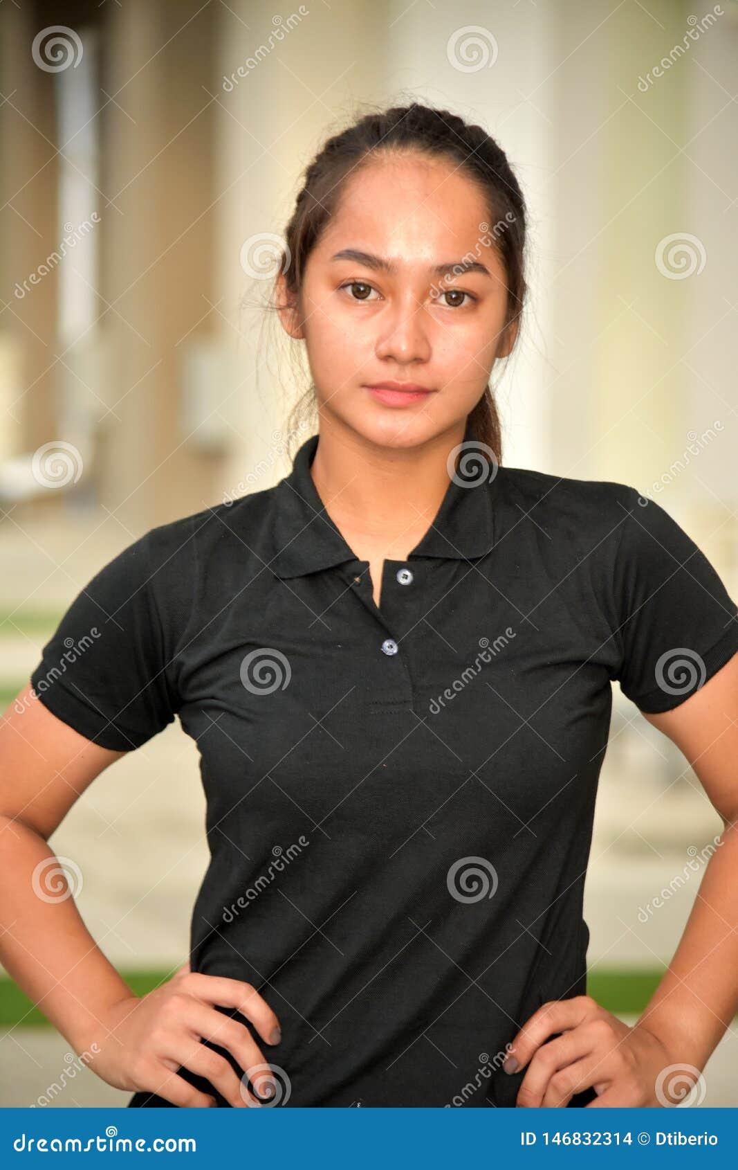 Un retrato adolescente de la muchacha