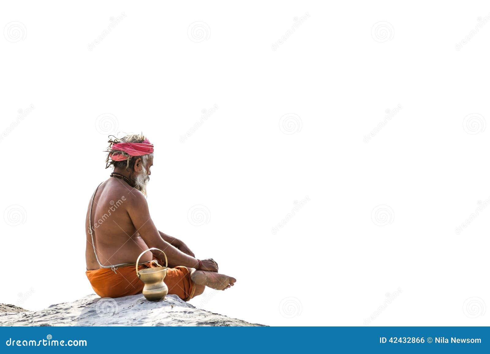 Un Sadhu hindú en el Kumbha Mela, la India