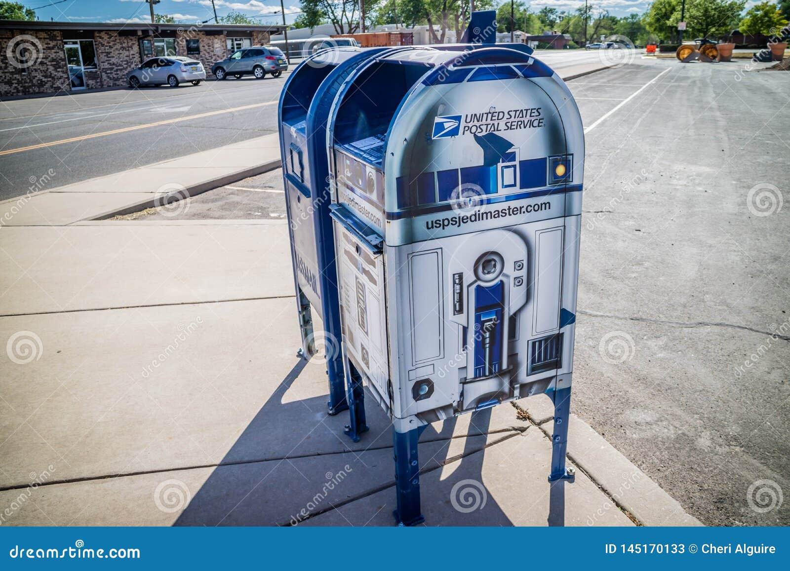 Un service de messagerie postal dans Roswell, Nouveau Mexique