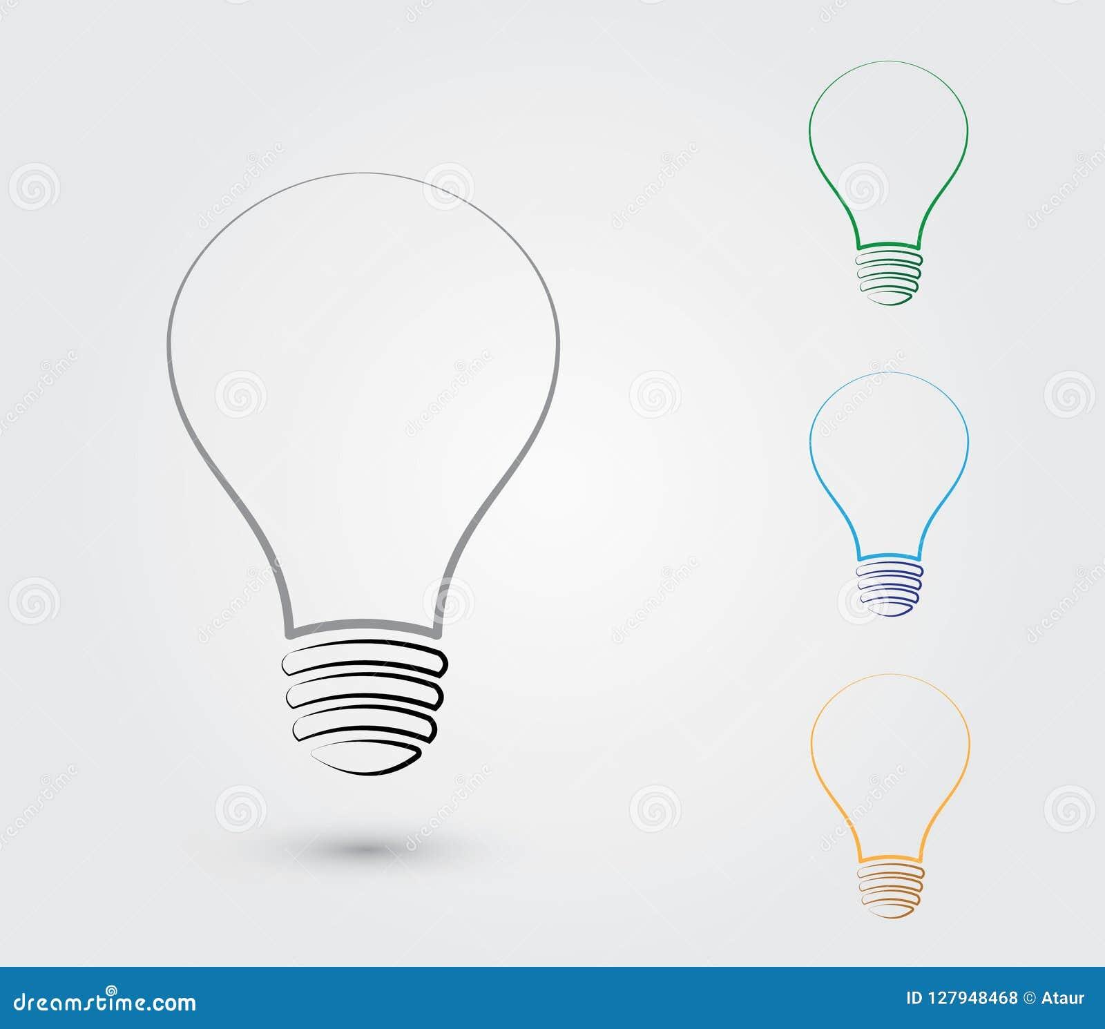 Un sistema de bombillas con diversos colores para representar la idea para el negocio y la organización