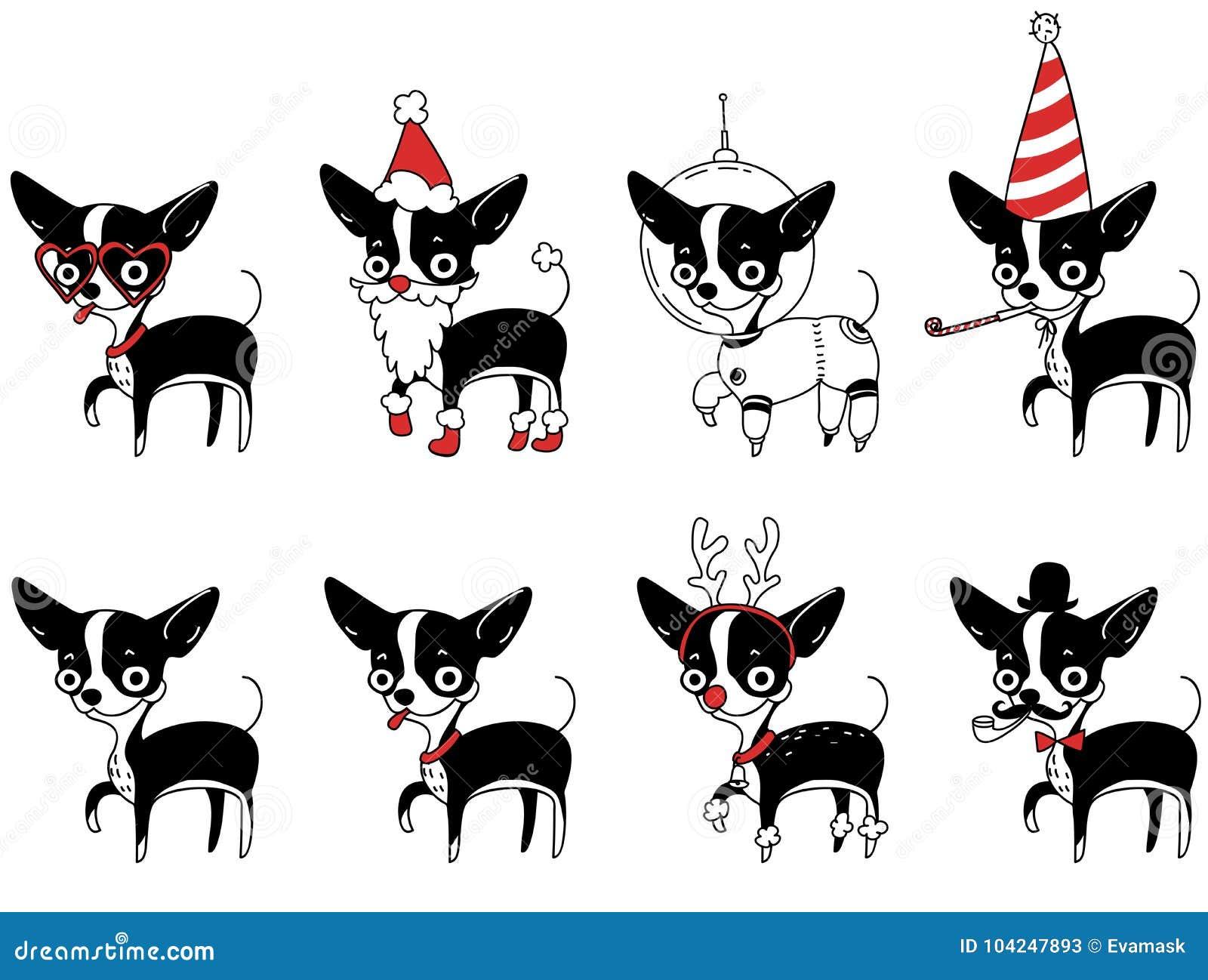 Dibujo De Chihuahua: Un Sistema De Dibujos Con Un Perro De La Chihuahua