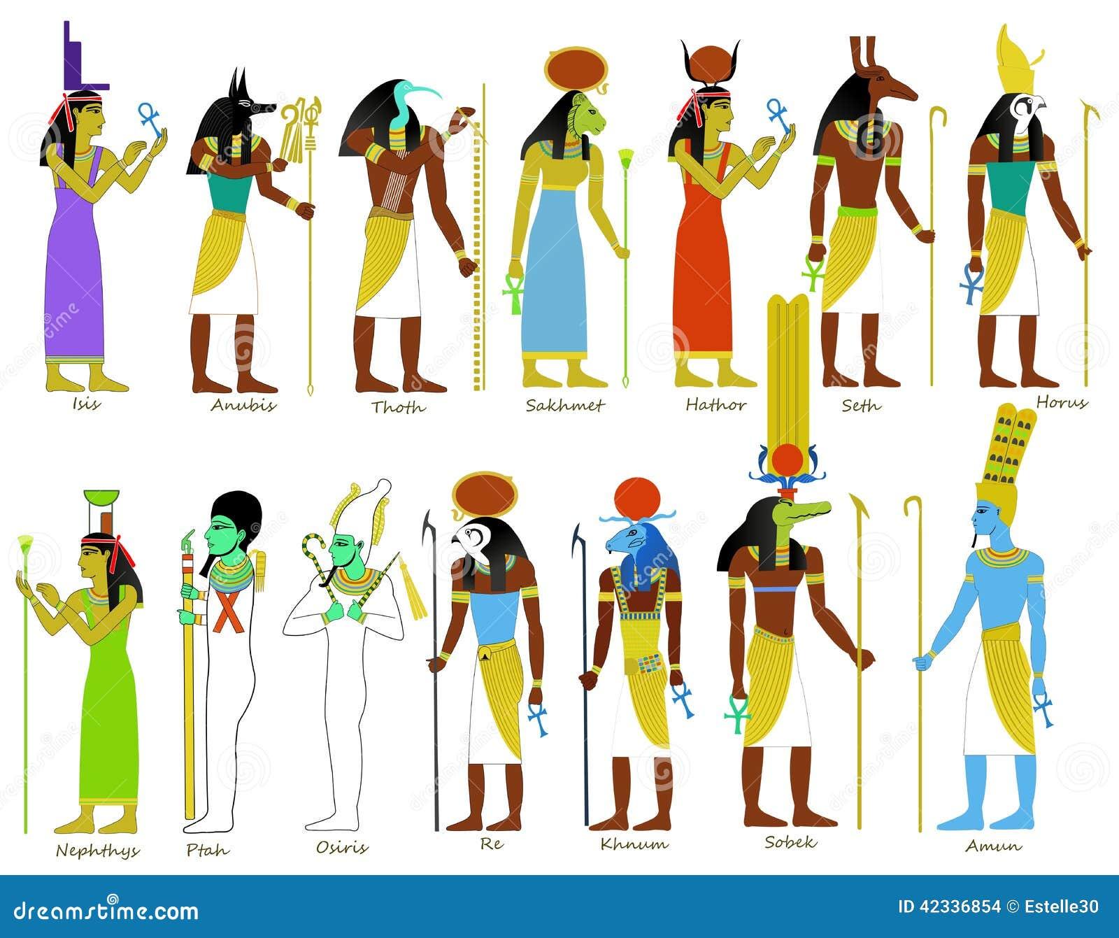 Un sistema de dioses egipcios antiguos