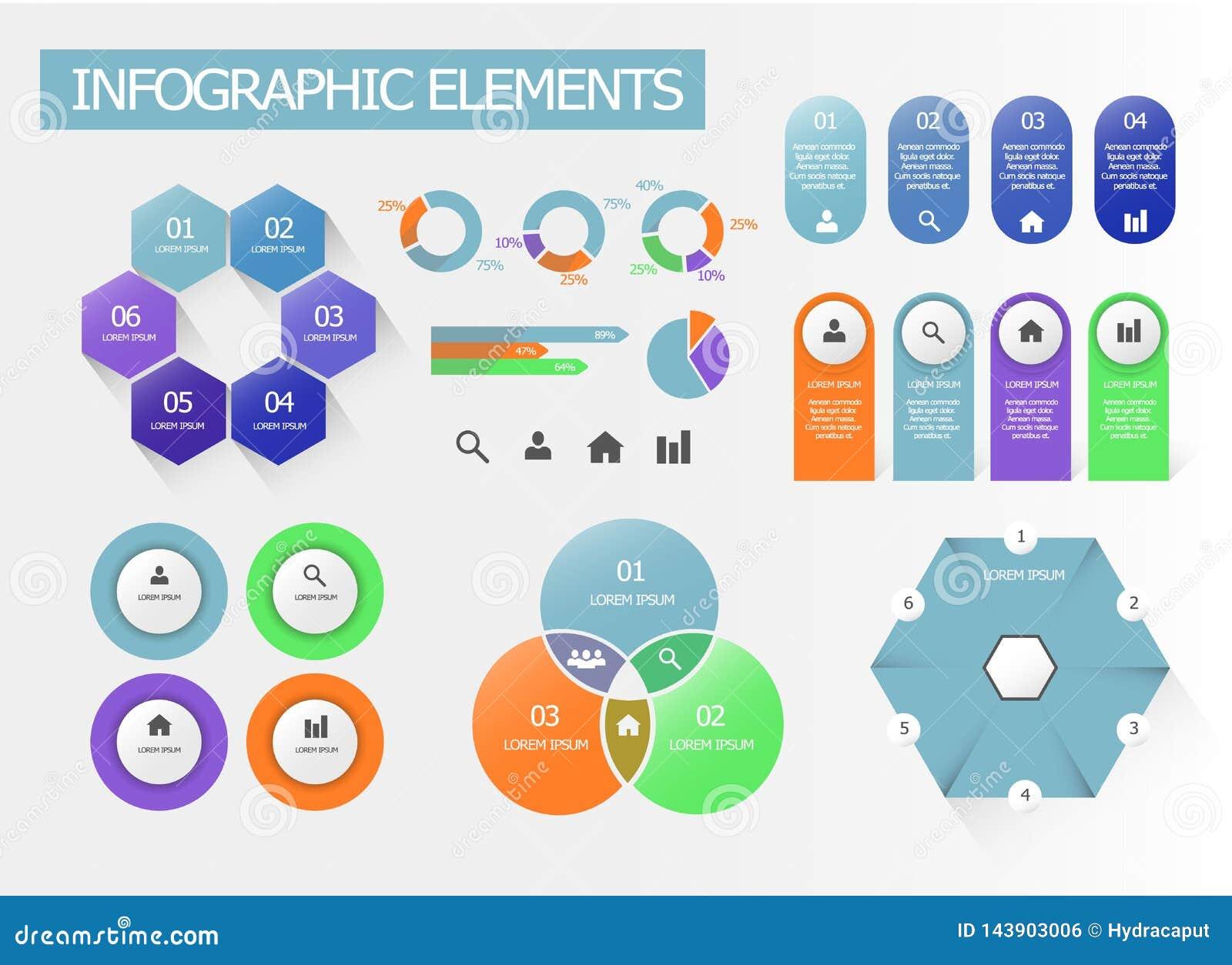 Un sistema de elementos infographic