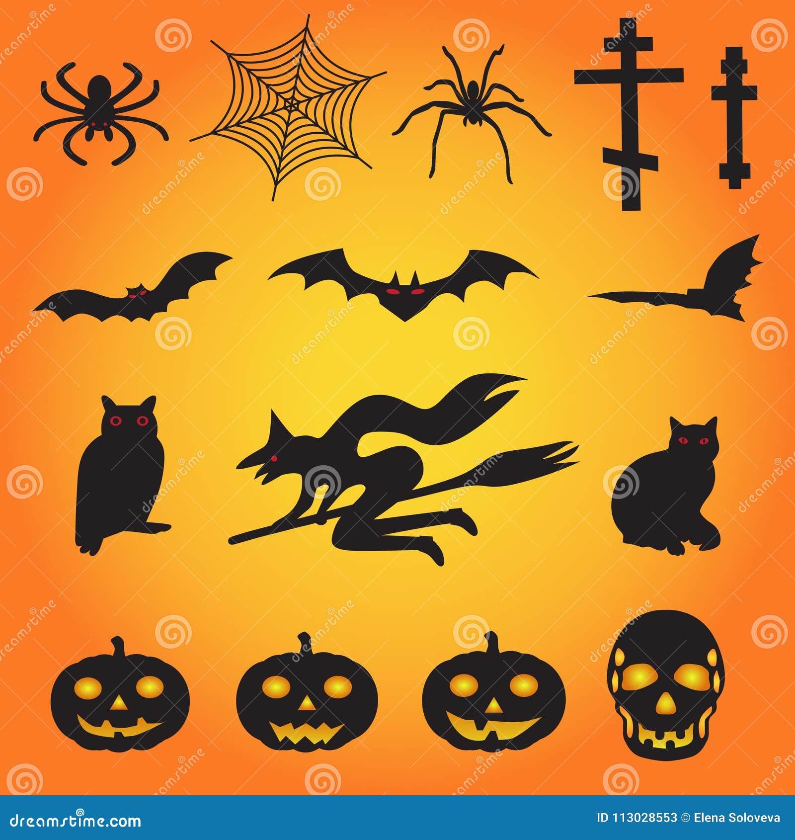 Un sistema de los ejemplos clasificados del vector para Halloween
