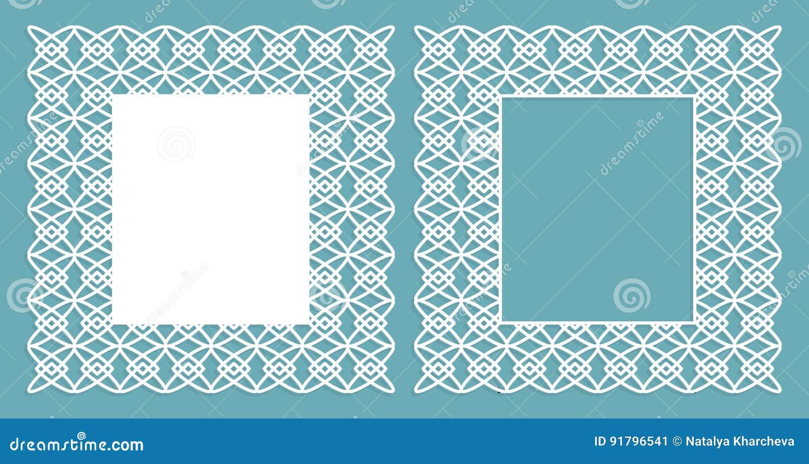 un sistema de los paneles decorativos para el corte del laser con un modelo geomtrico para