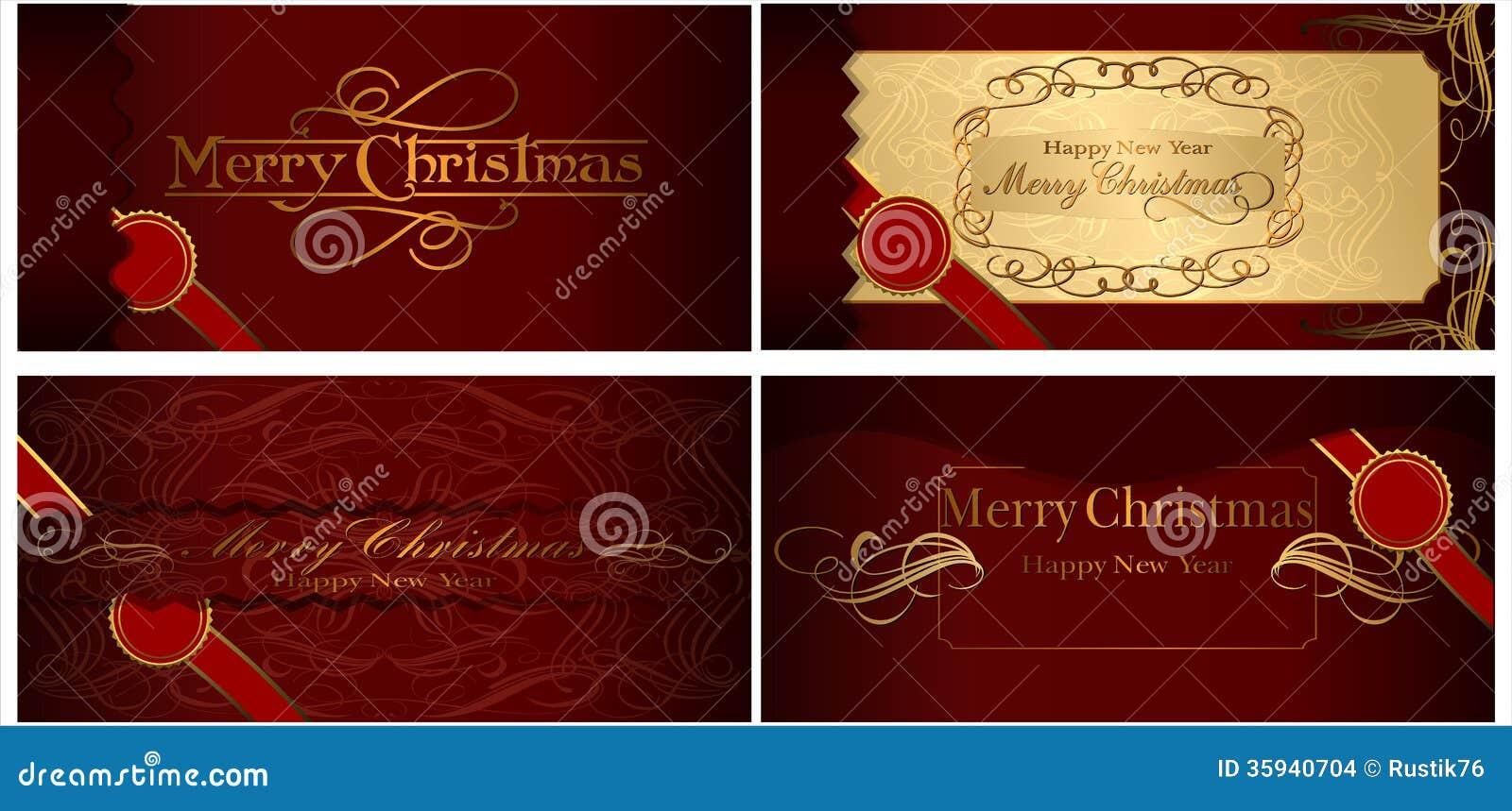 Un sistema de tarjetas de Navidad. 08 (vector)