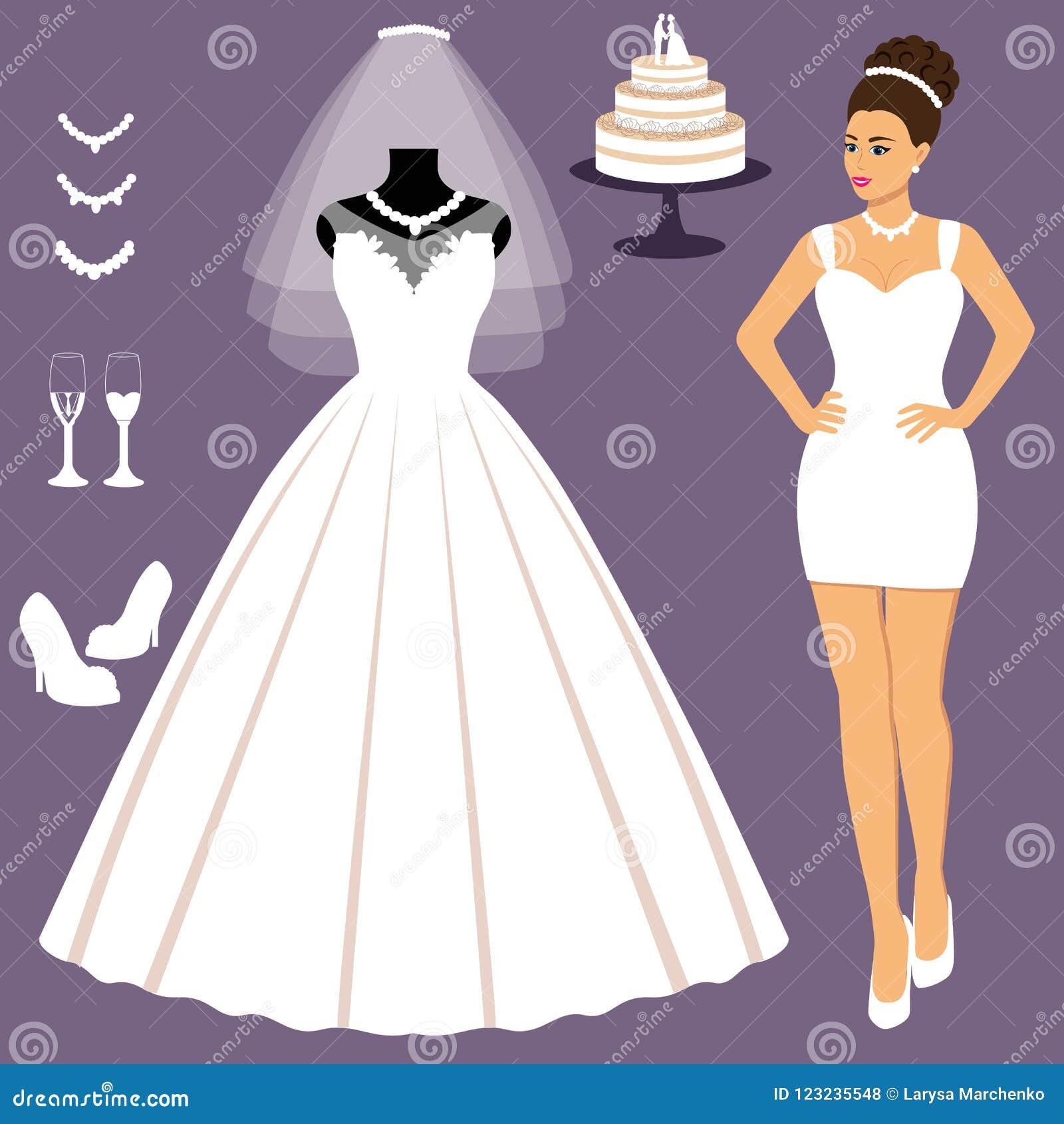 Un Sistema De Vestidos De Boda La Opción Ropa Para La Novia