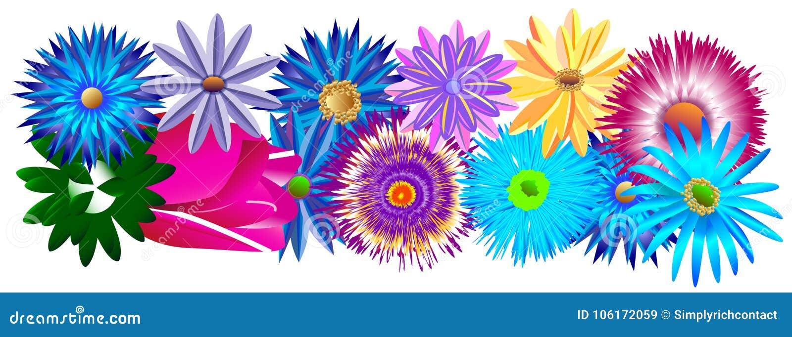 Un sistema decorativo hermoso de diversa pieza de los colores del bastidor o menos