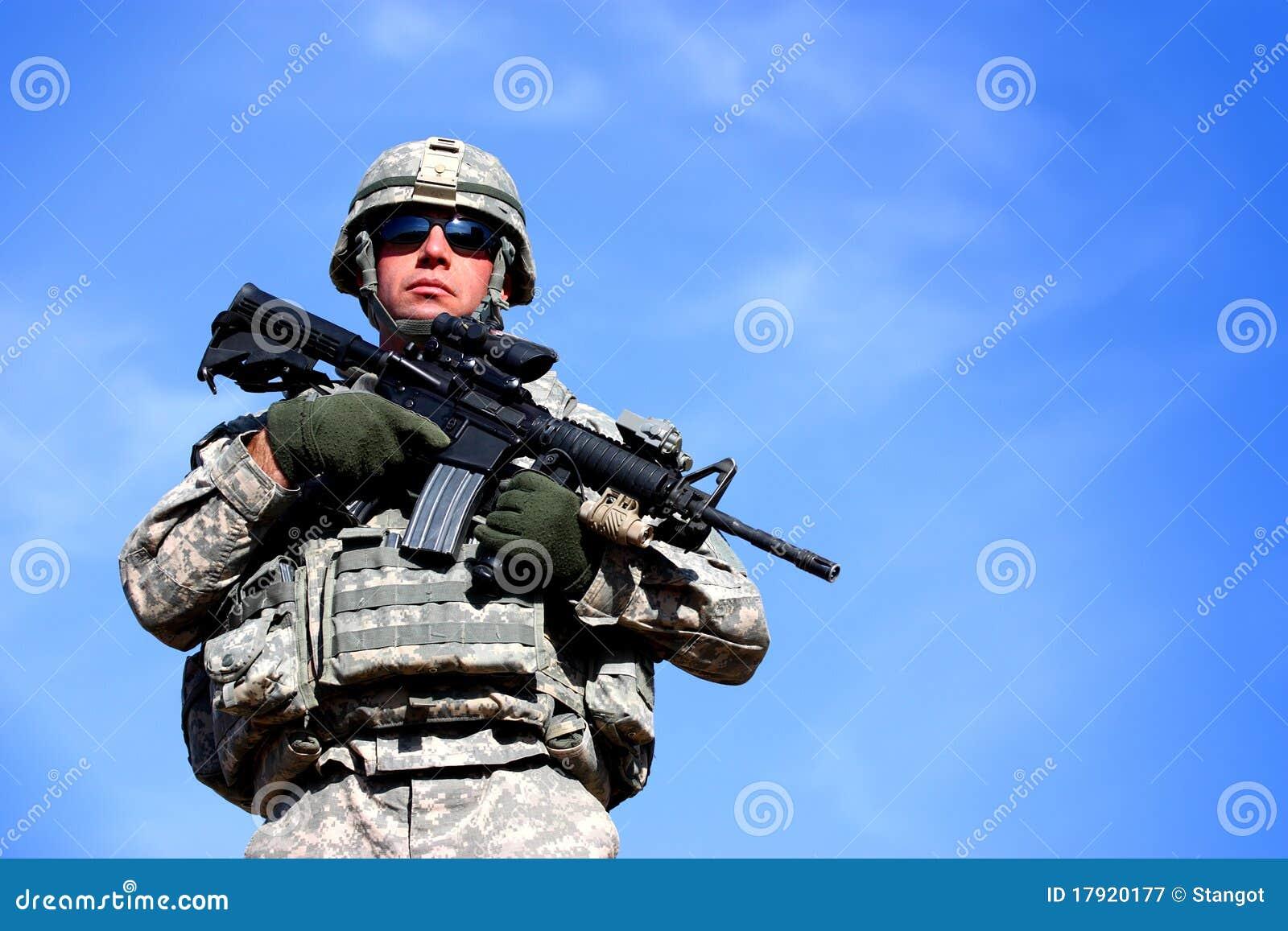 Un soldado de los E.E.U.U.