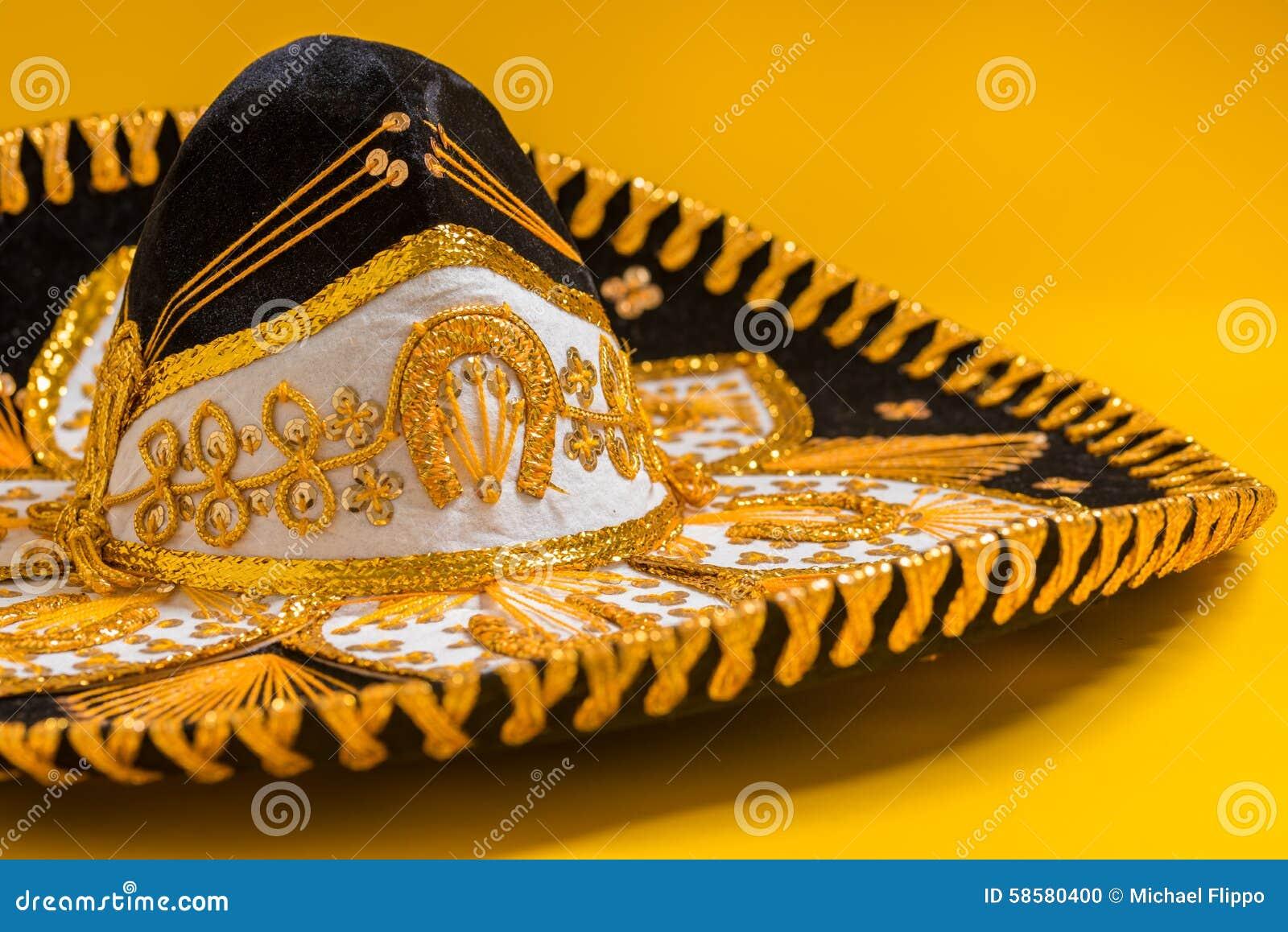 Un Sombrero Mexicano Negro Festivo Del Mariachi Foto de archivo ... 70206e19d13