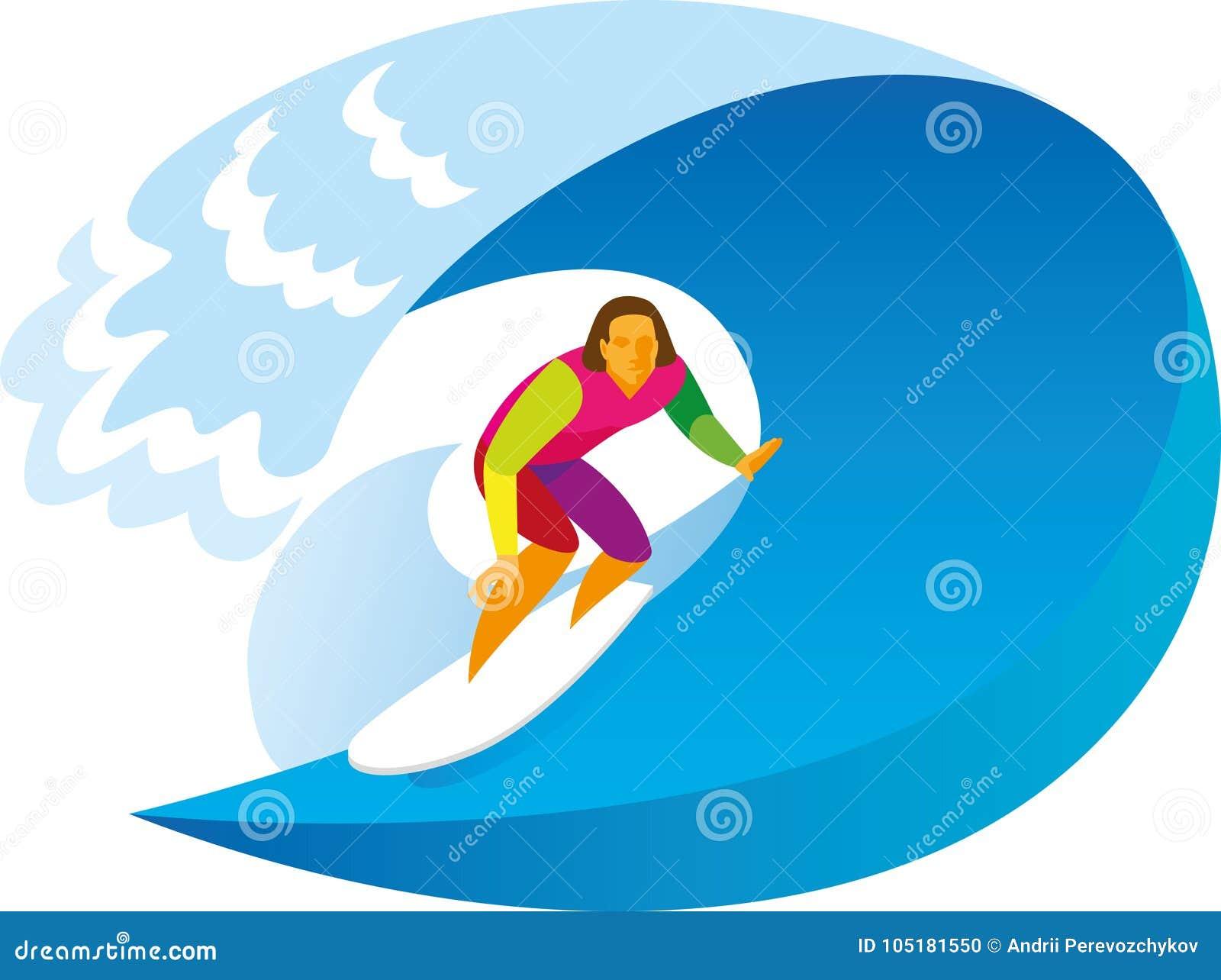 Un surfista con esperienza guida su un onda enorme sulla spuma