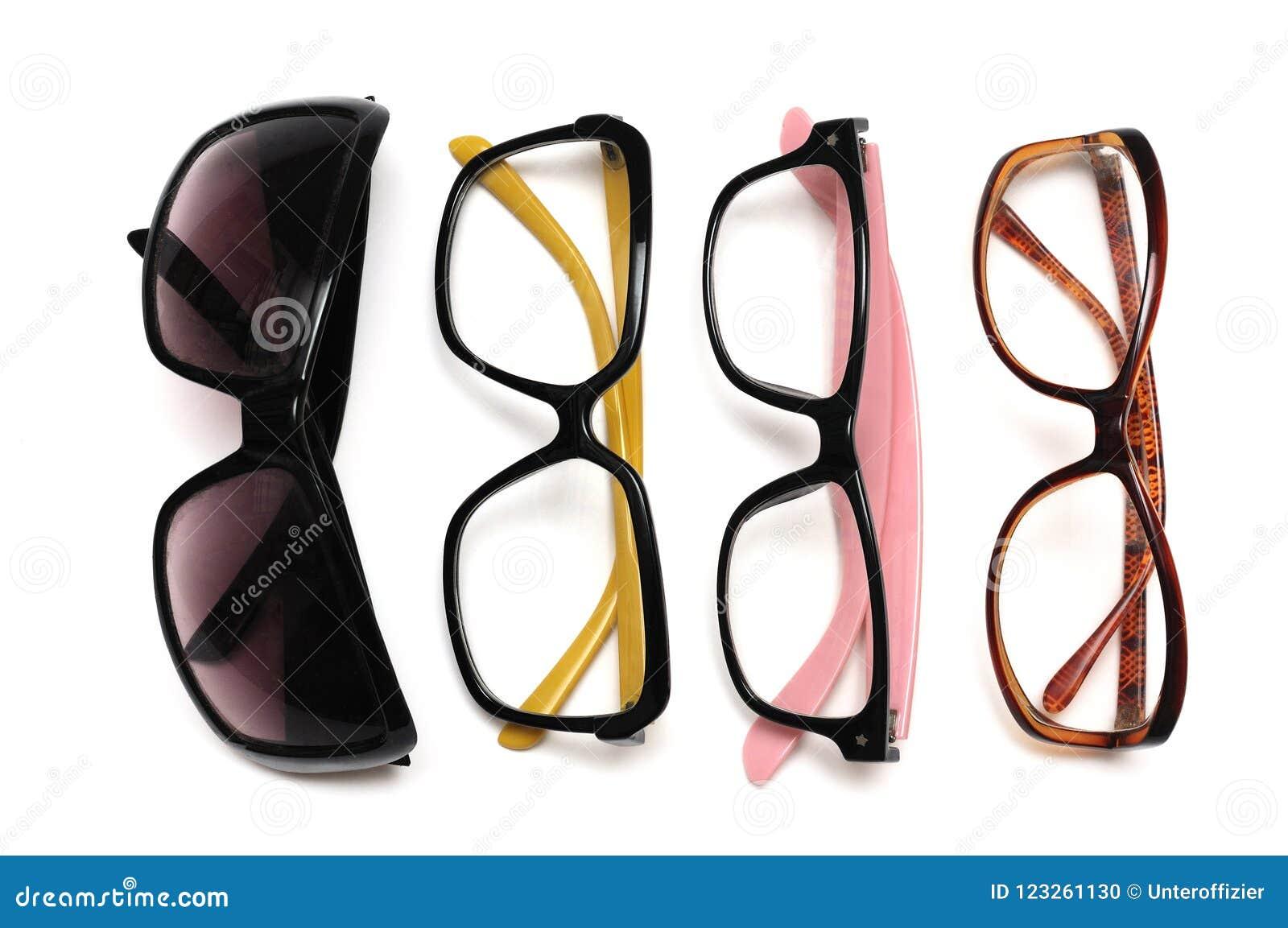 Un surtido de gafas decorativas imaginarias