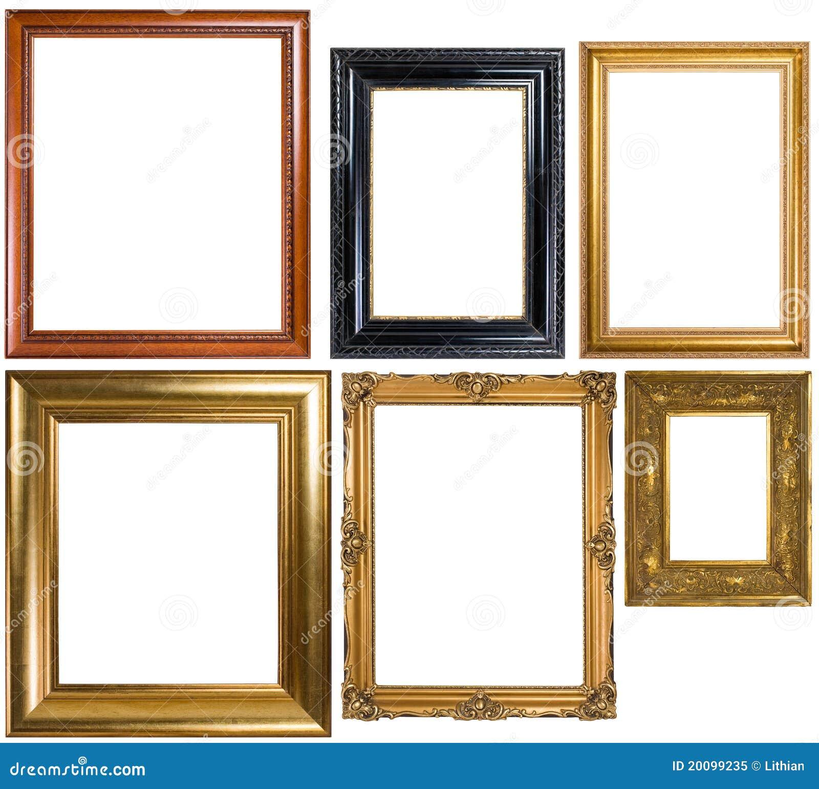 Un Surtido De Marcos Clásicos Imagen de archivo - Imagen de pintado ...