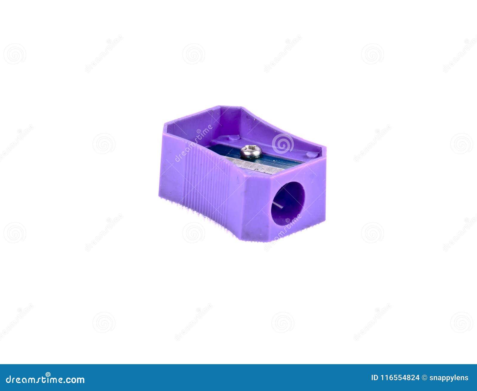 Un taille-crayons coloré par pourpre