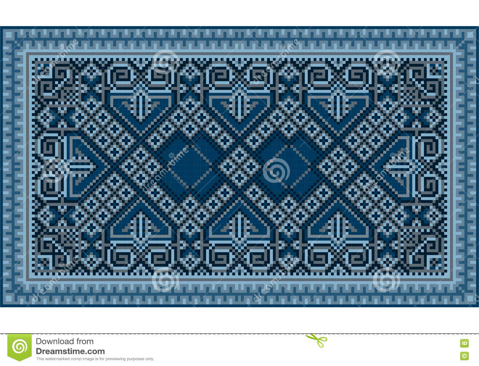 Un Tapis Oriental De Raffinage De Vintage Luxueux Avec Bleu Fonce
