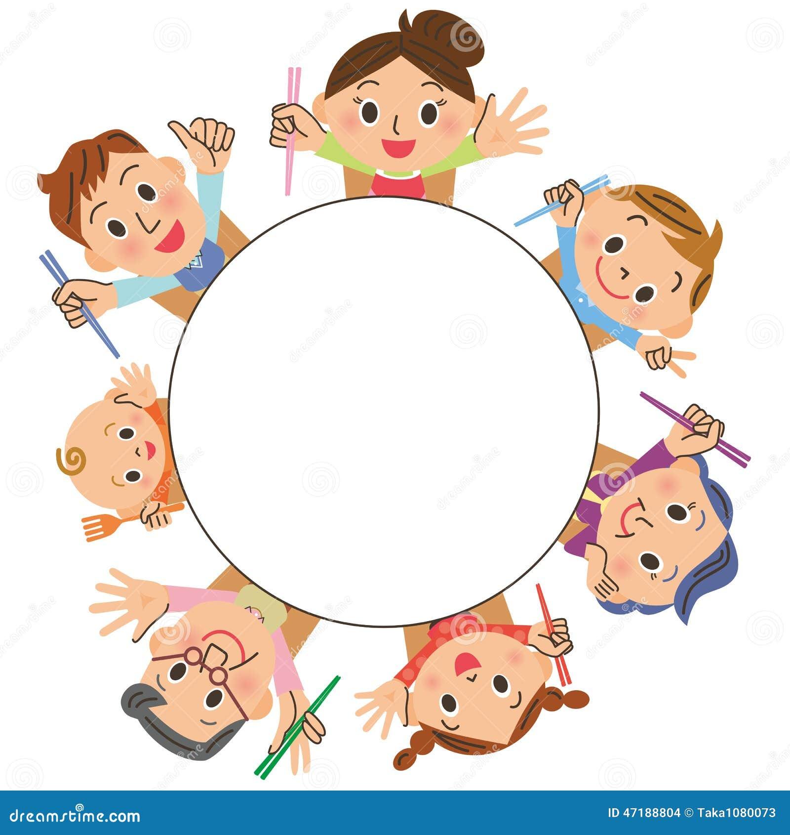 È Un Tavolo Da Pranzo In Famiglie Illustrazione Vettoriale Immagine  #B86013 1300 1390 Dove Mettere Il Tavolo Da Pranzo