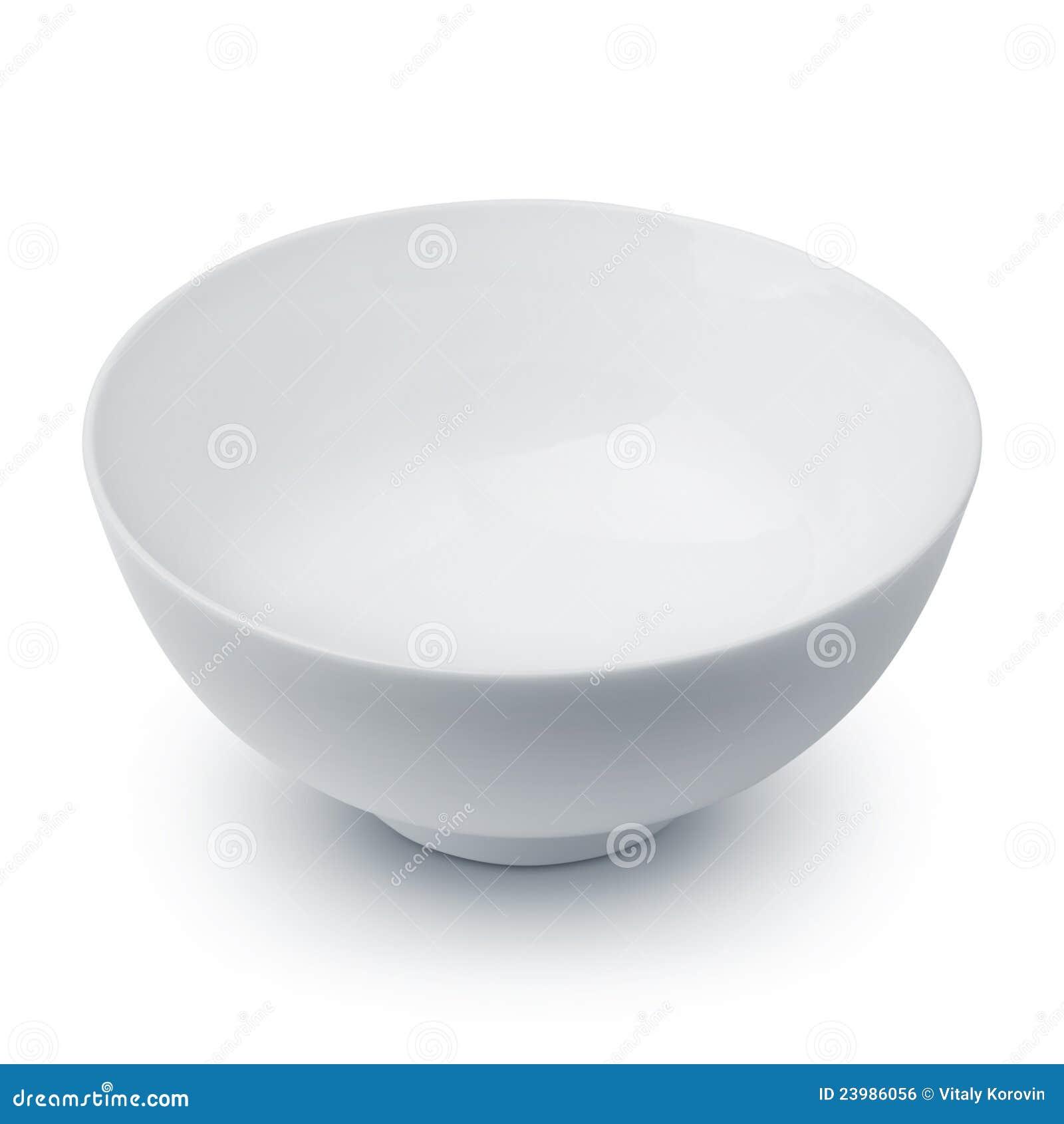 Un tazón de fuente blanco vacío