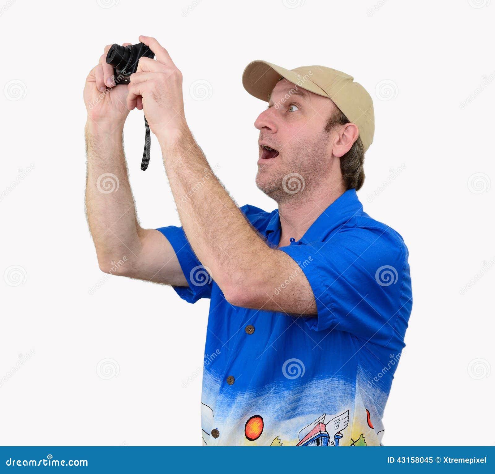 Un touriste prenant une photographie