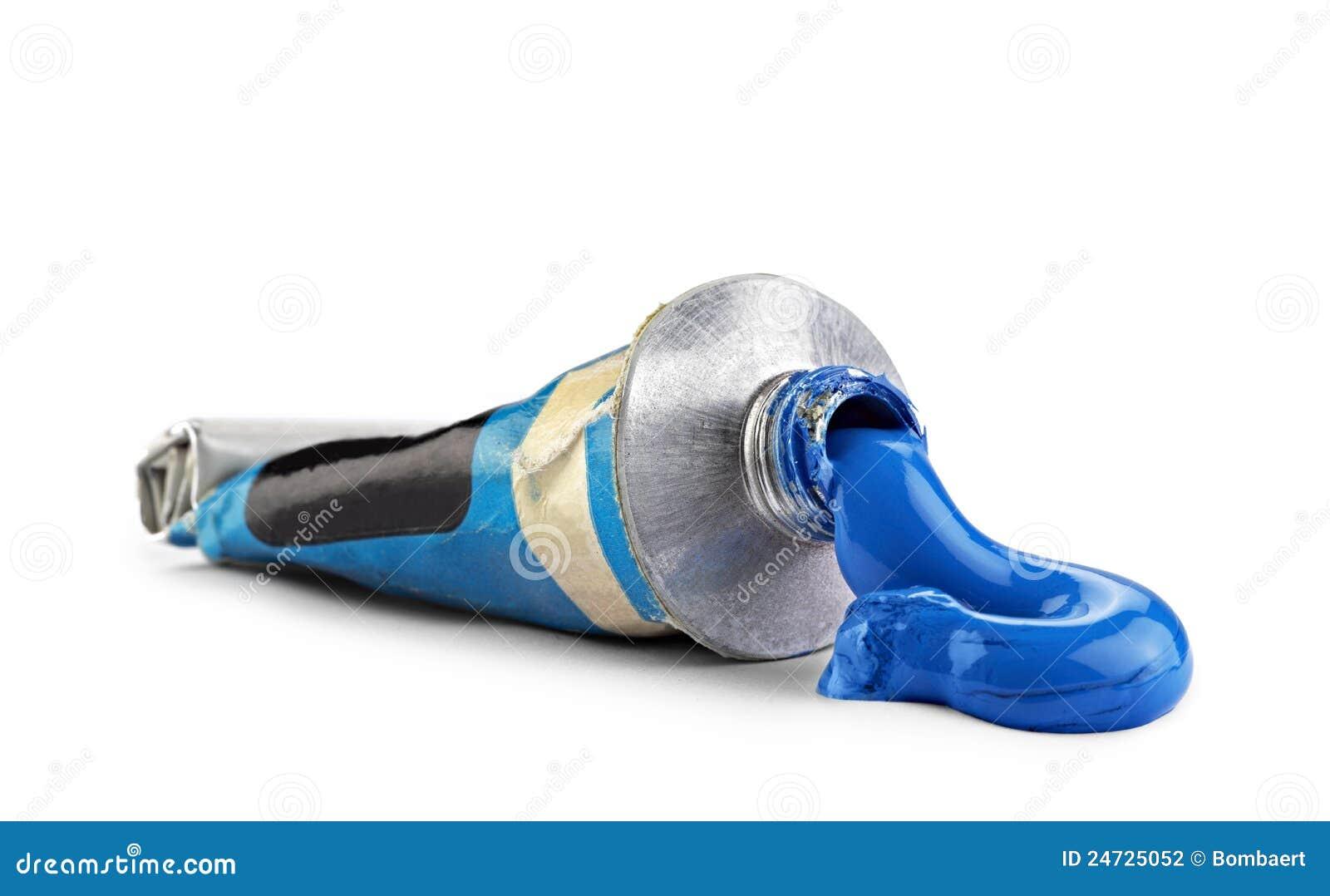 Decoration Cuisine Ustensile : Un Tube Avec La Peinture à Lhuile Bleue Photographie stock  Image