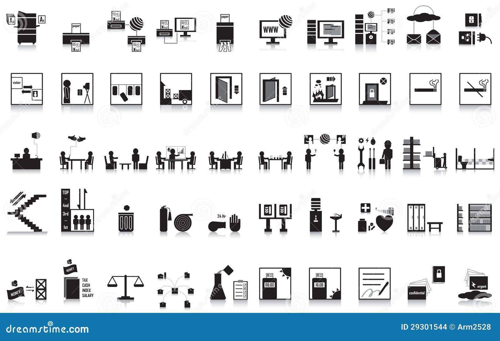 Un ufficio di 50 icone