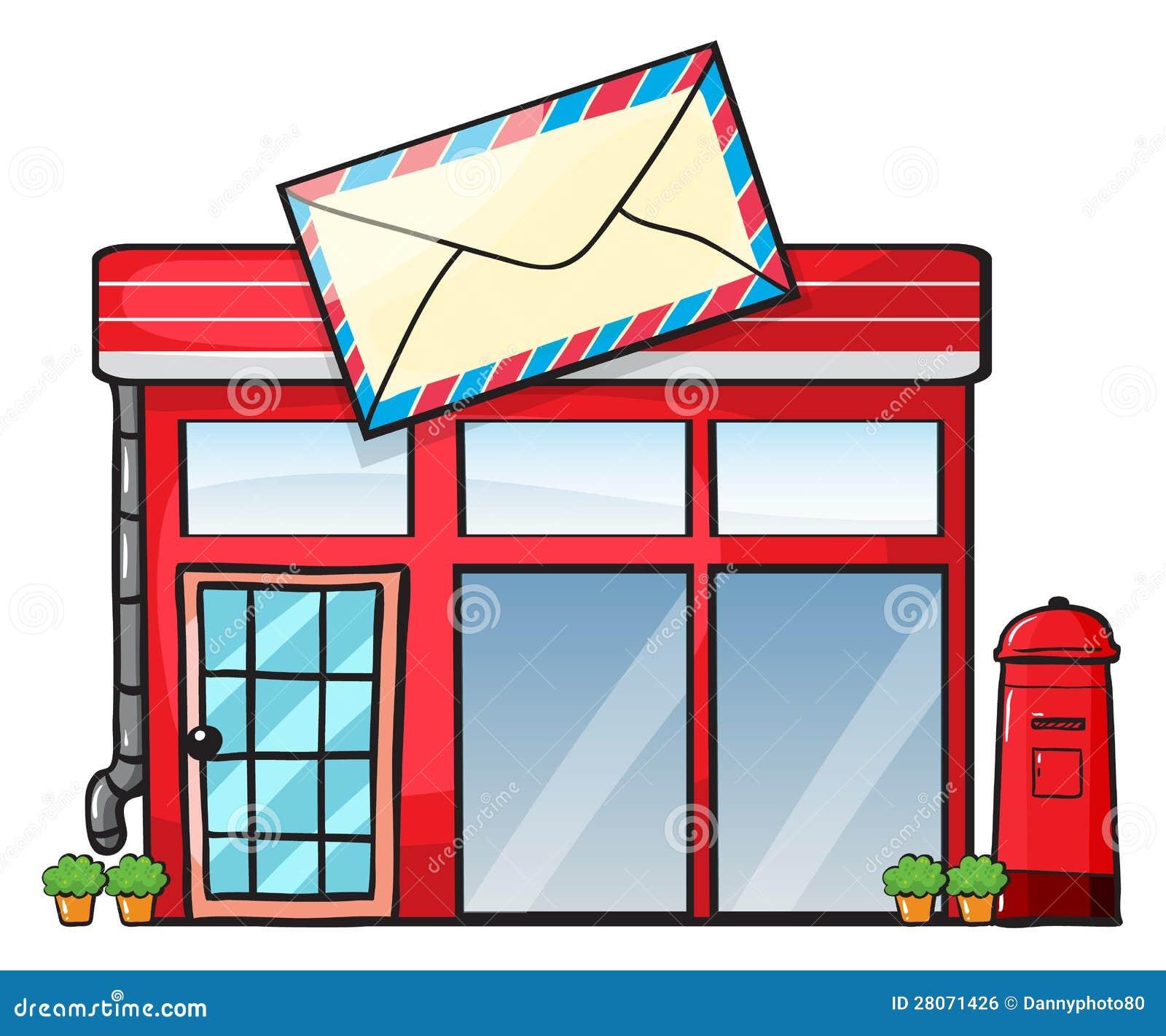 Un Ufficio Postale Illustrazione Di Stock. Immagine Di