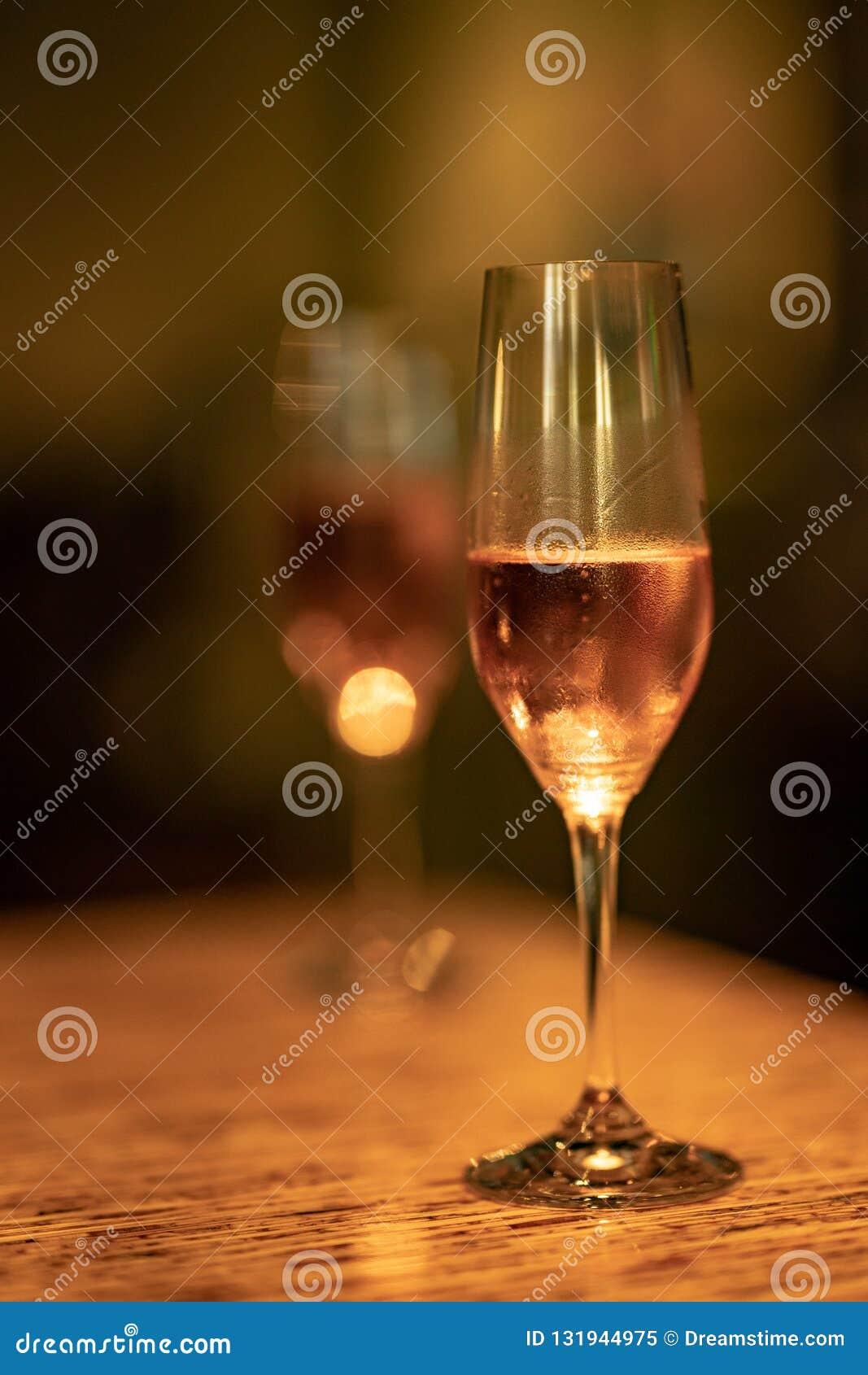Un vetro di champagne