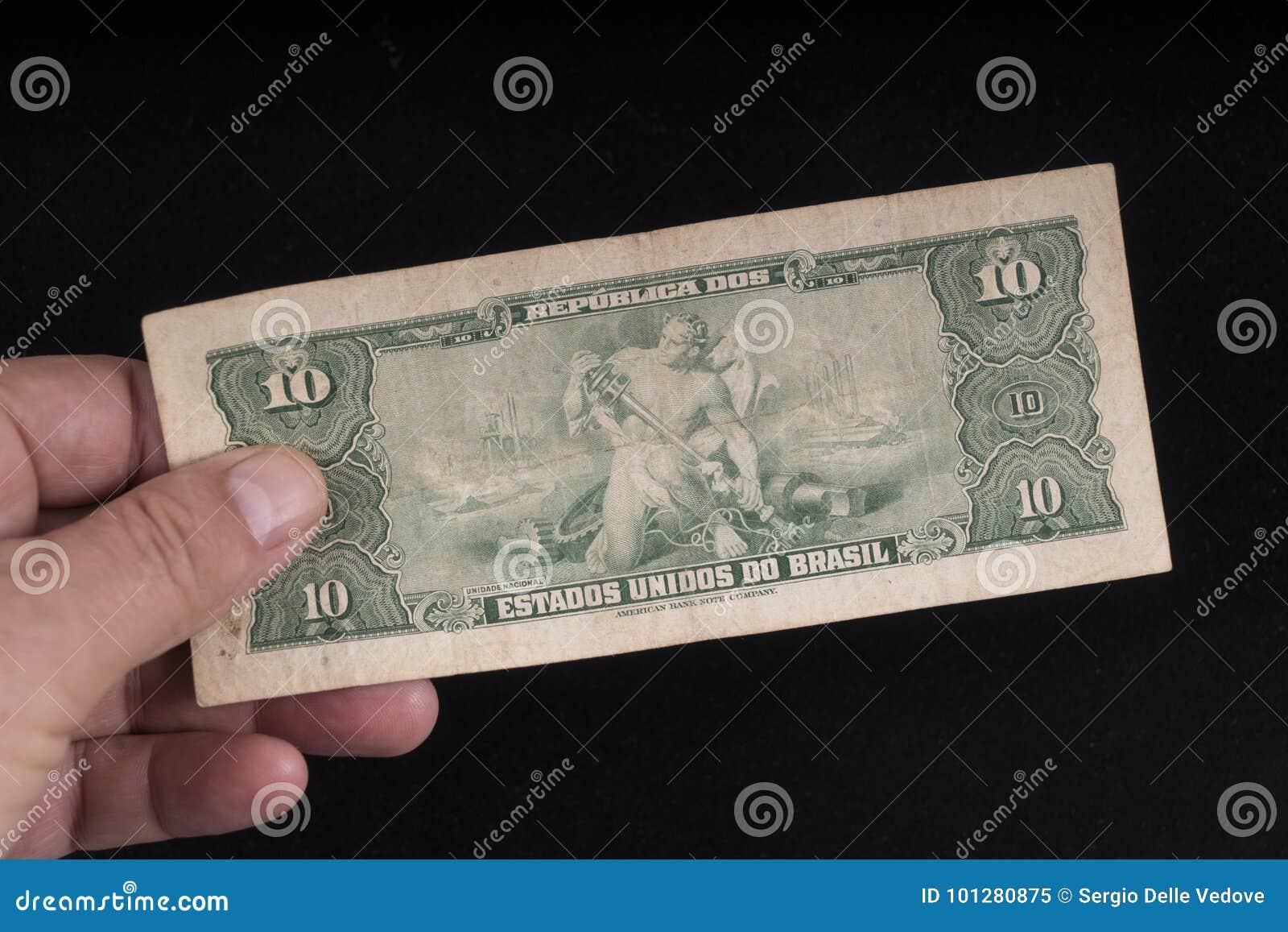 Un vieux billet de banque brésilien