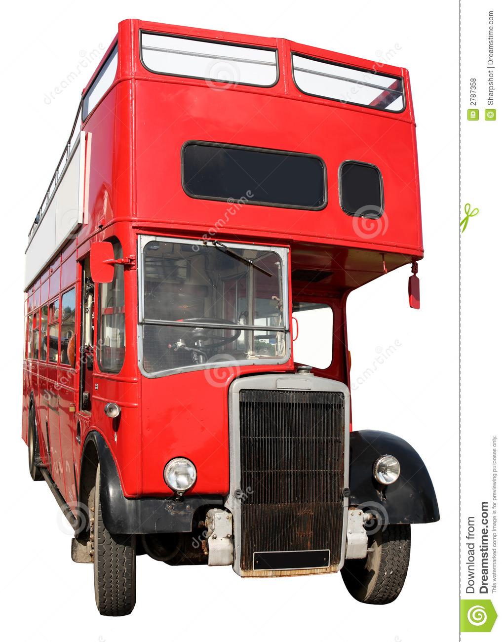 un vieux bus rouge de londres photo stock image du fond vieux 2787358. Black Bedroom Furniture Sets. Home Design Ideas