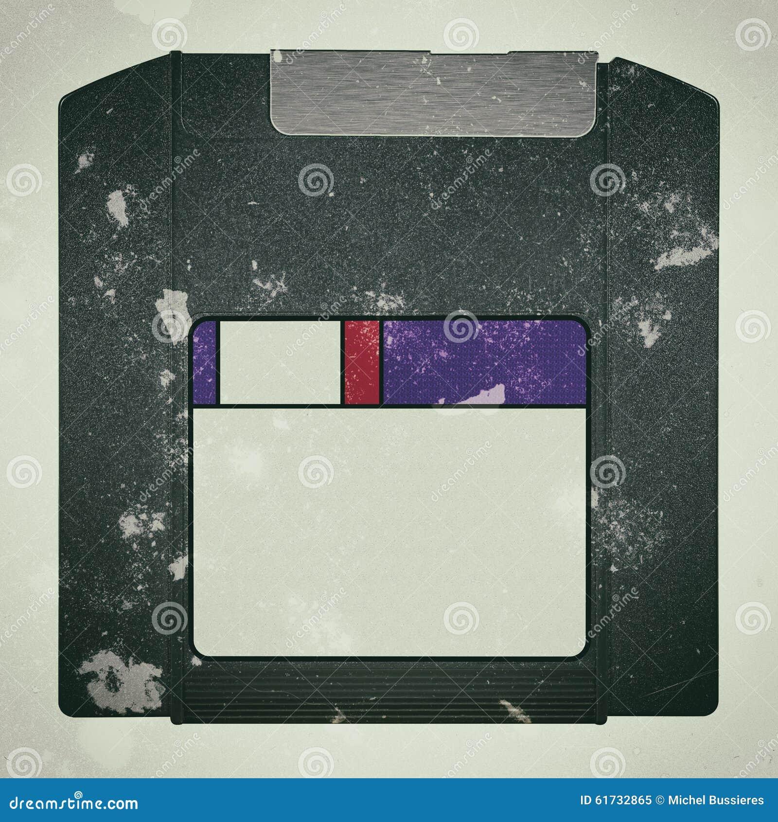 Un vieux disque sale de fermeture éclair