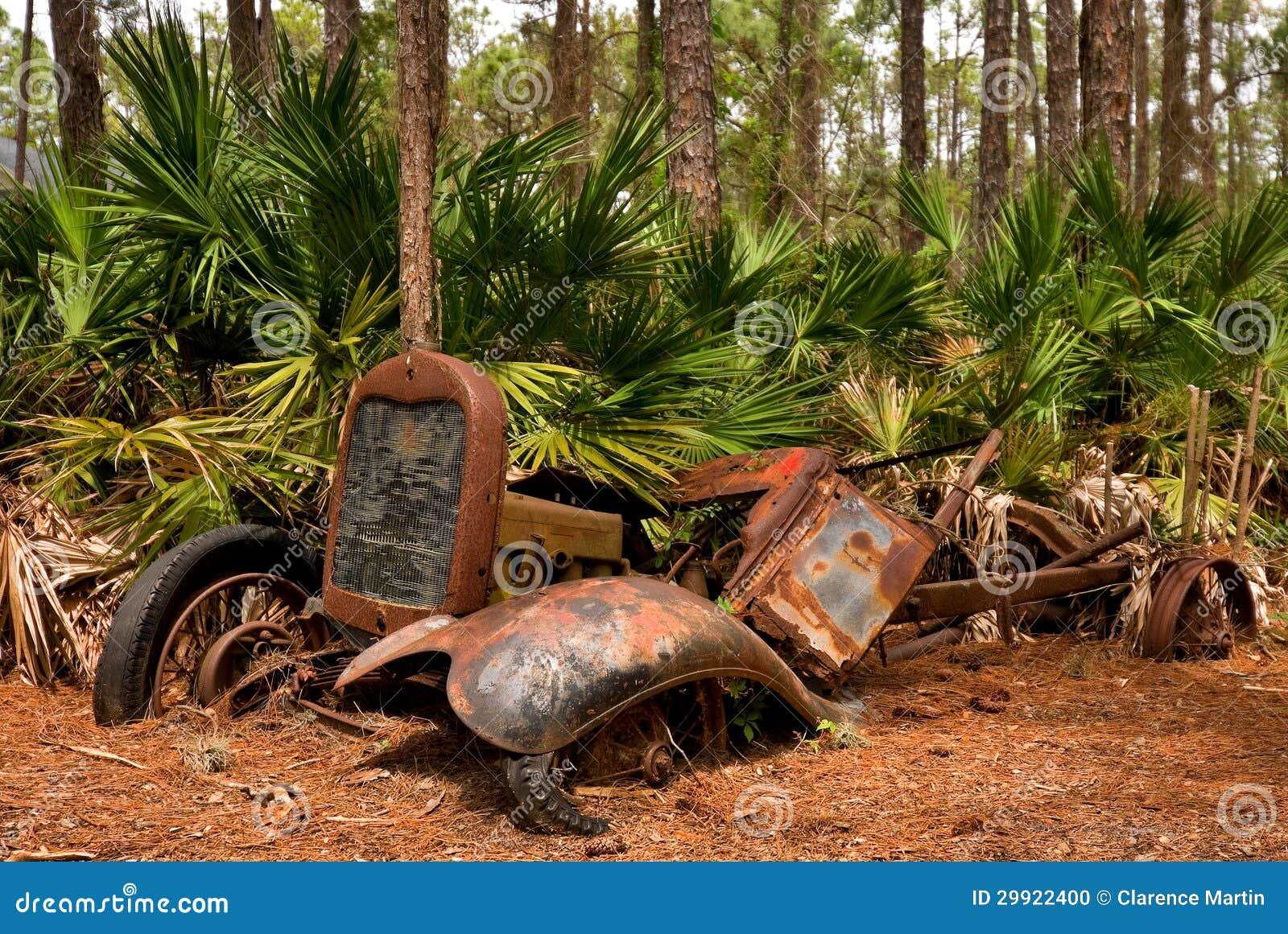 Vieux V 233 Hicule Abandonn 233 Dans Une For 234 T De La Floride