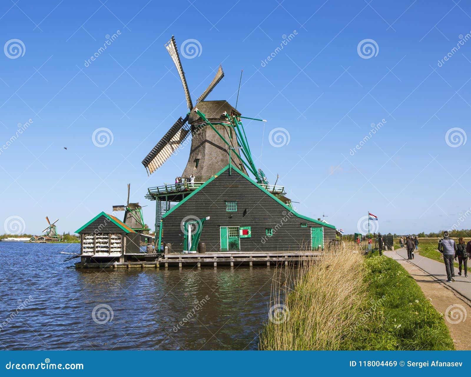 Un villaggio etnografico pittoresco Zanes-Schans netherlands
