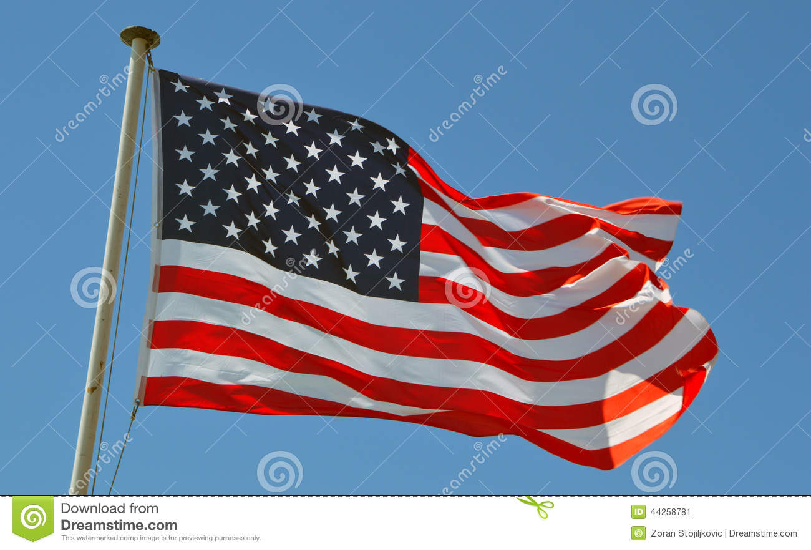 Una bandera de los E.E.U.U.