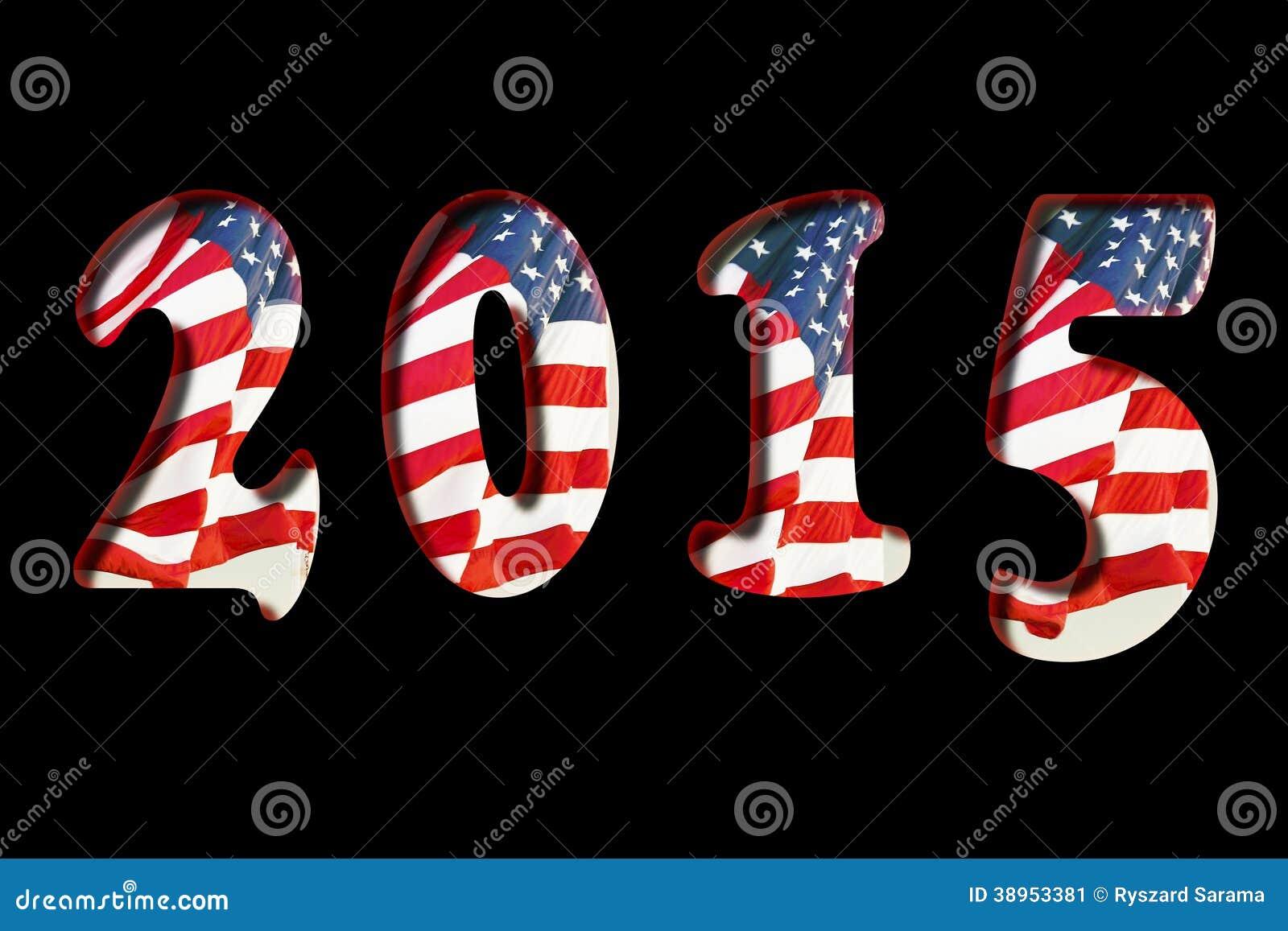 Una bandiera dei 2015 Stati Uniti