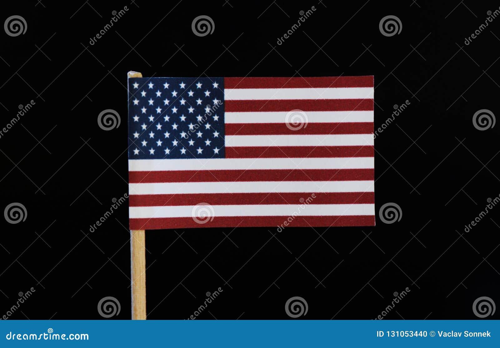 Una bandiera ufficiale di alternare orizzontale delle bande degli Stati Uniti tredici rosso e bianco nel cantone, 50 stelle bianc