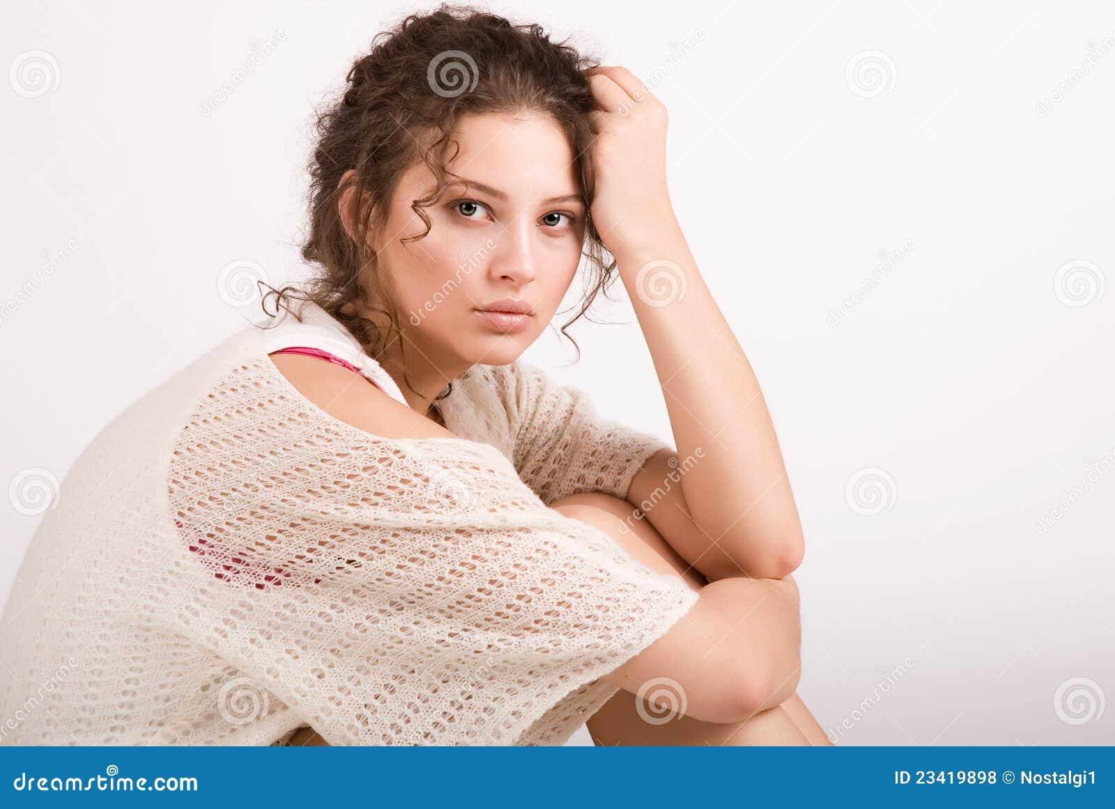 Una bella ragazza fotografia stock immagine di persona - Colorazione immagine di una ragazza ...