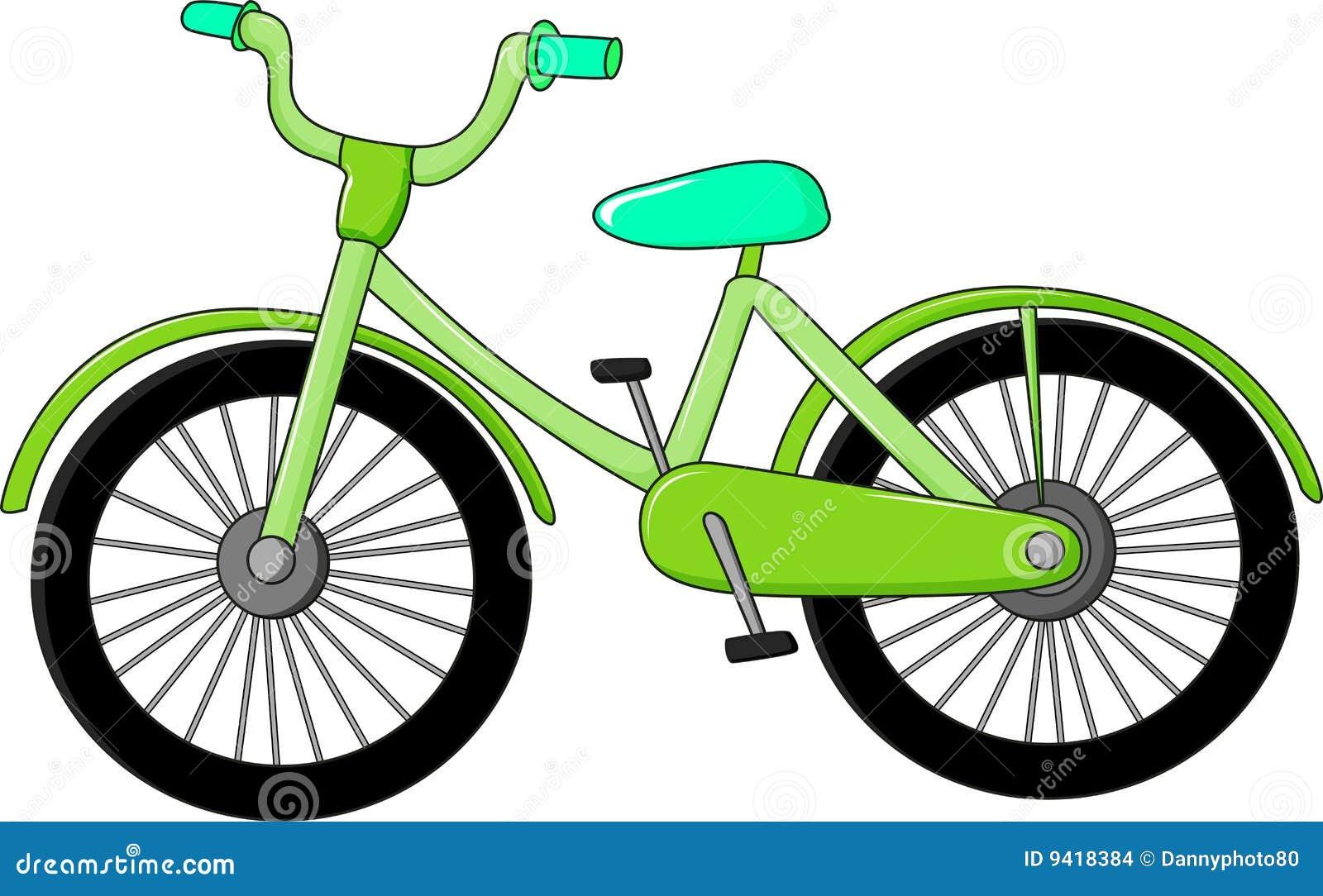 Una Bicicleta Verde Imagenes De Archivo
