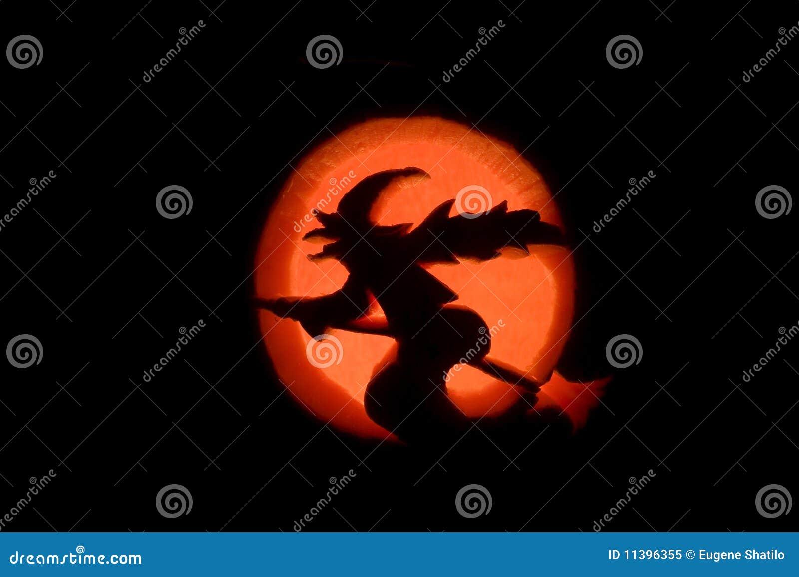 Una bruja y la luna
