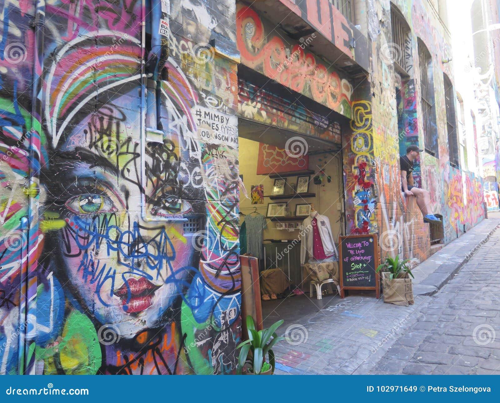 Una calle colorida