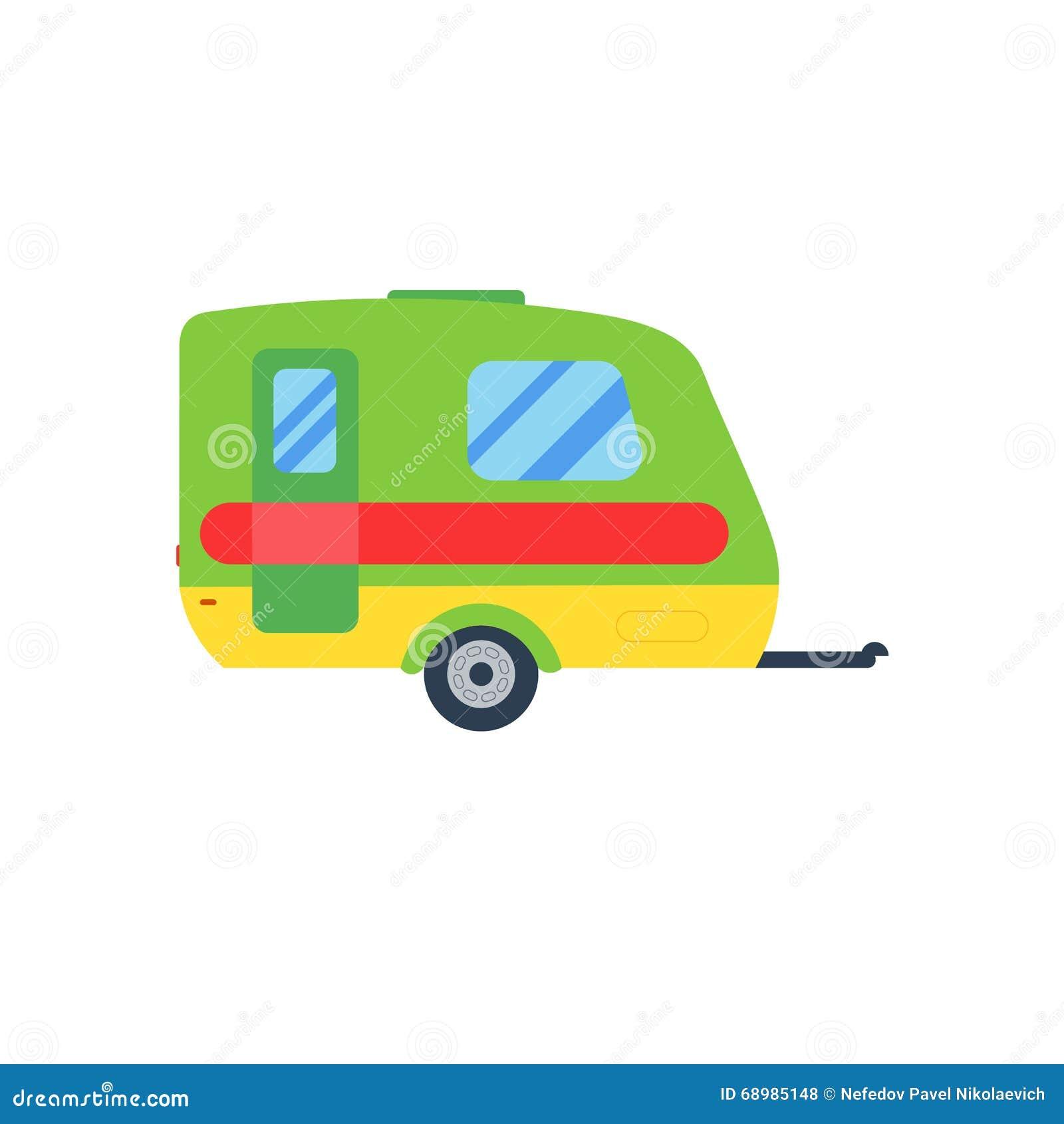 Una caravana del ejemplo Remolque de la caravana Caravana aislada