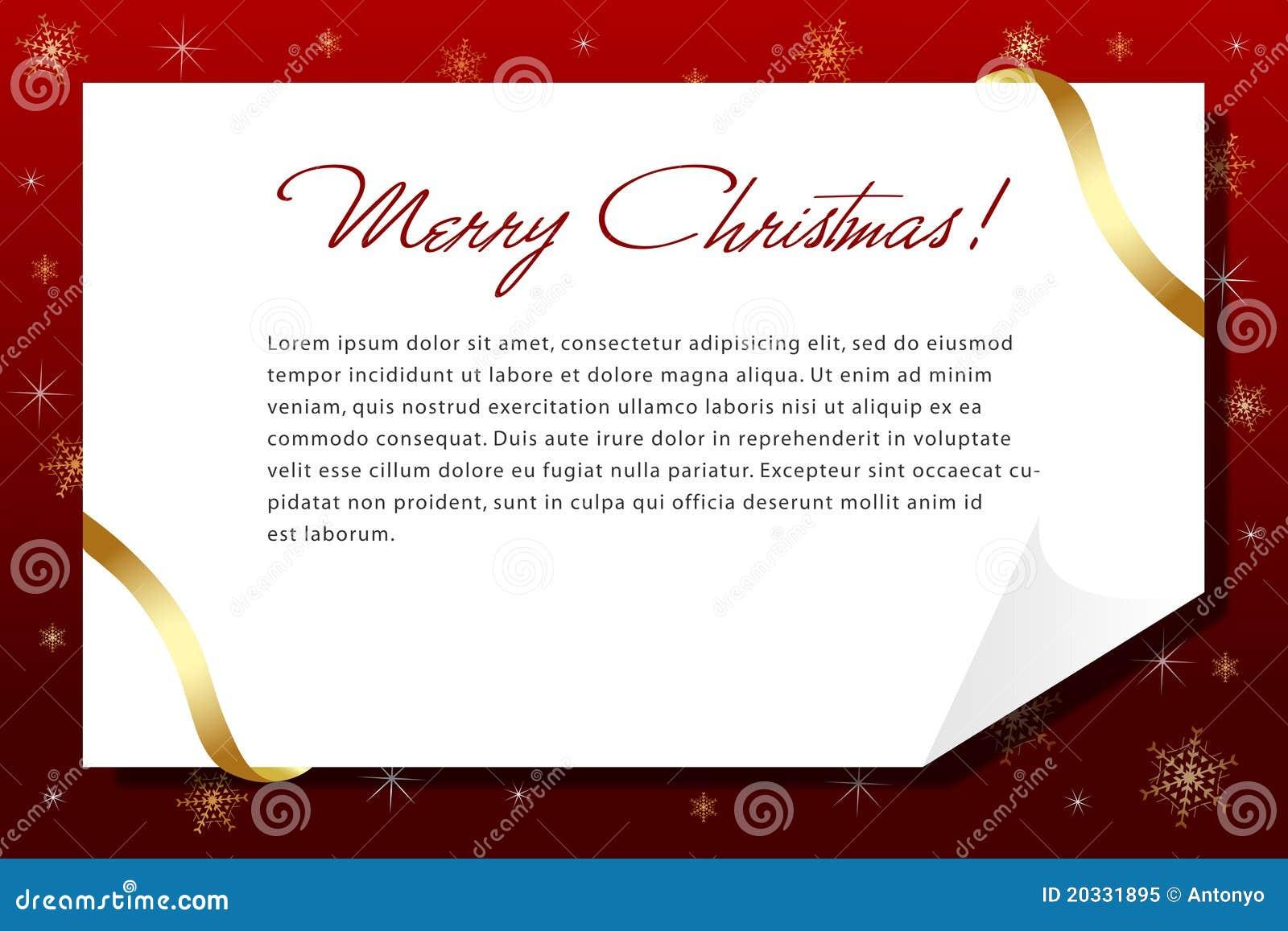 Una carta de la Navidad