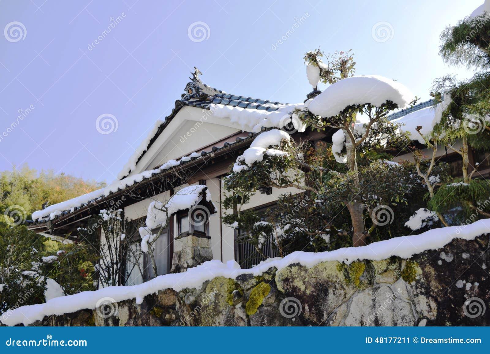Una casa rural típica en Japón