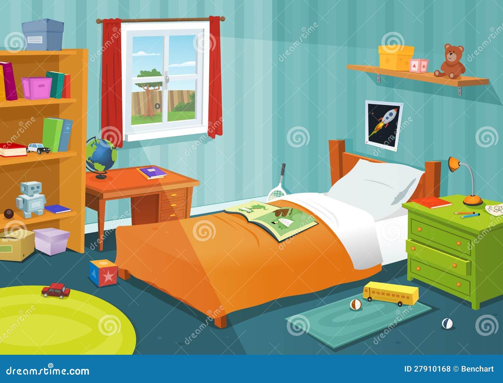 Una certa camera da letto del bambino illustrazione - Letto da bambino ...