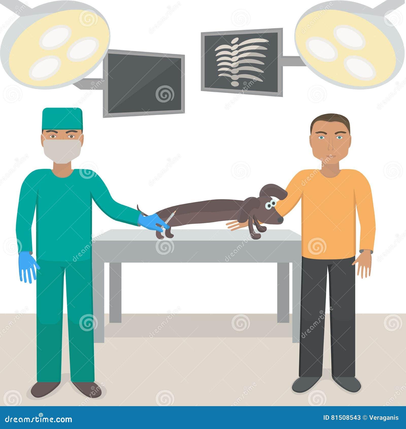 La Enfermera Hace Una Vacunación Del Tiro Ilustración del Vector ...